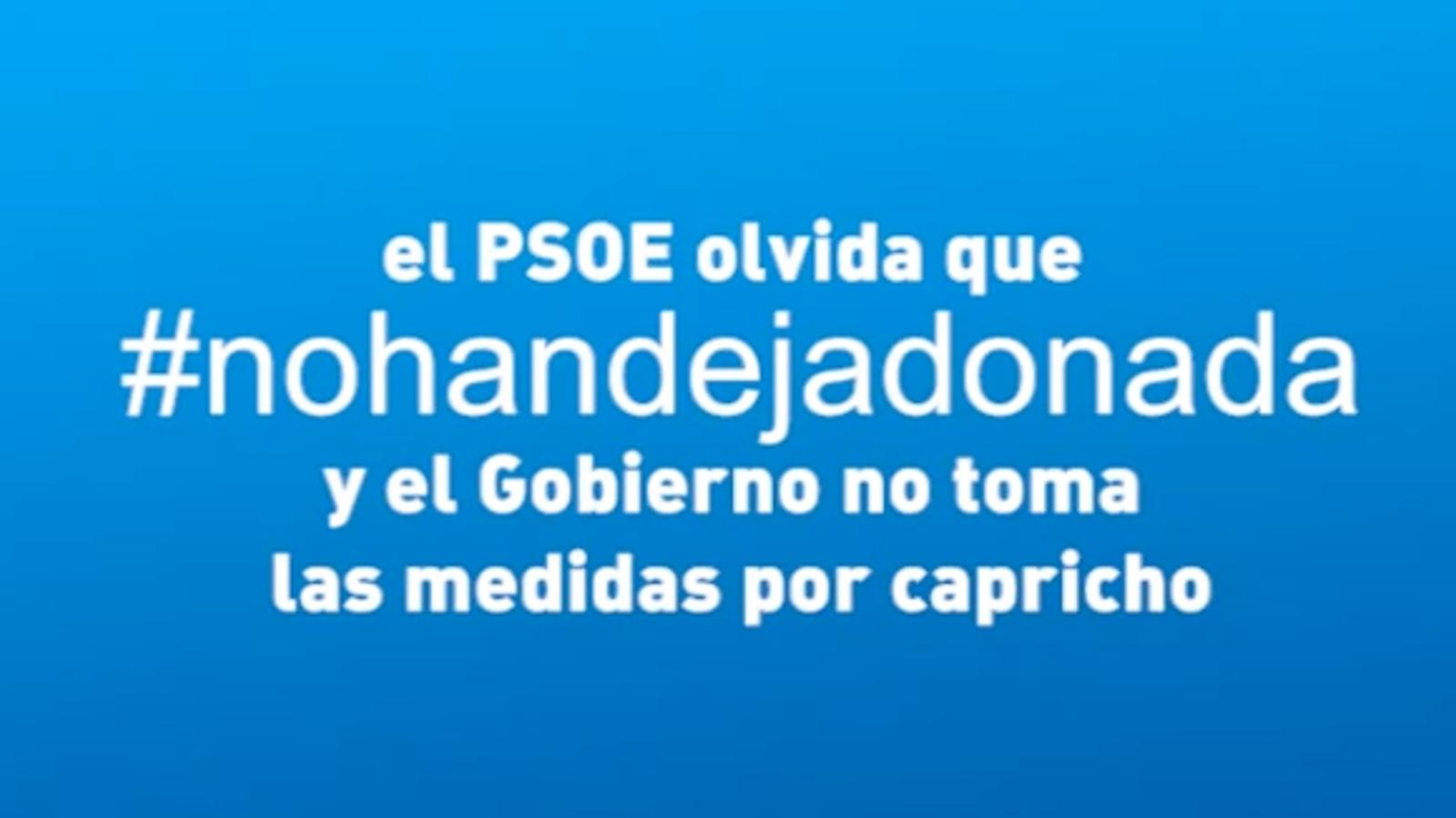 Guerra de vídeos entre PSOE i PP amb #vanaportodo i #nohandejadonada