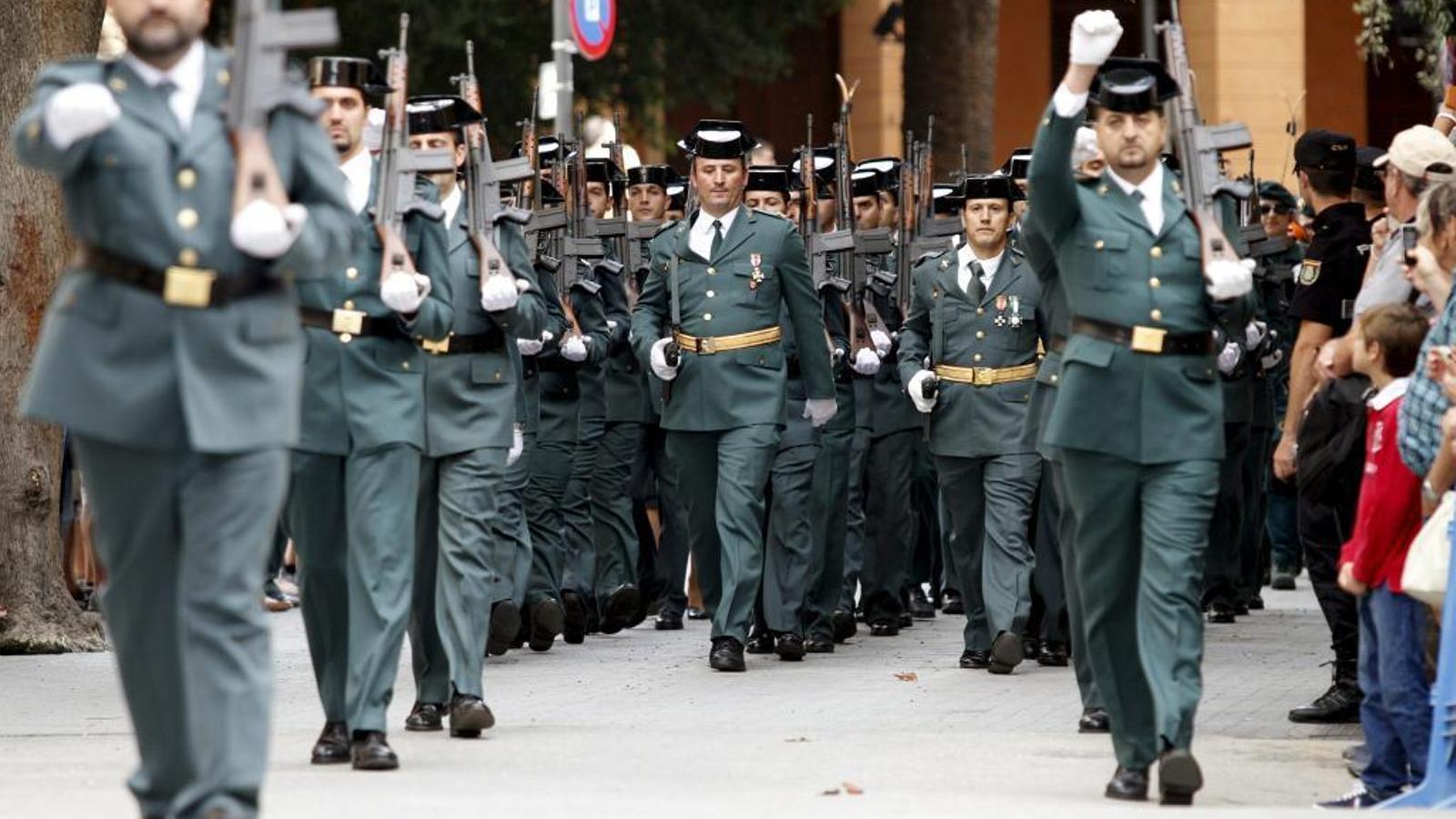 La Guàrdia Civil vol desfilar per Binissalem el Dia de la hispanitat