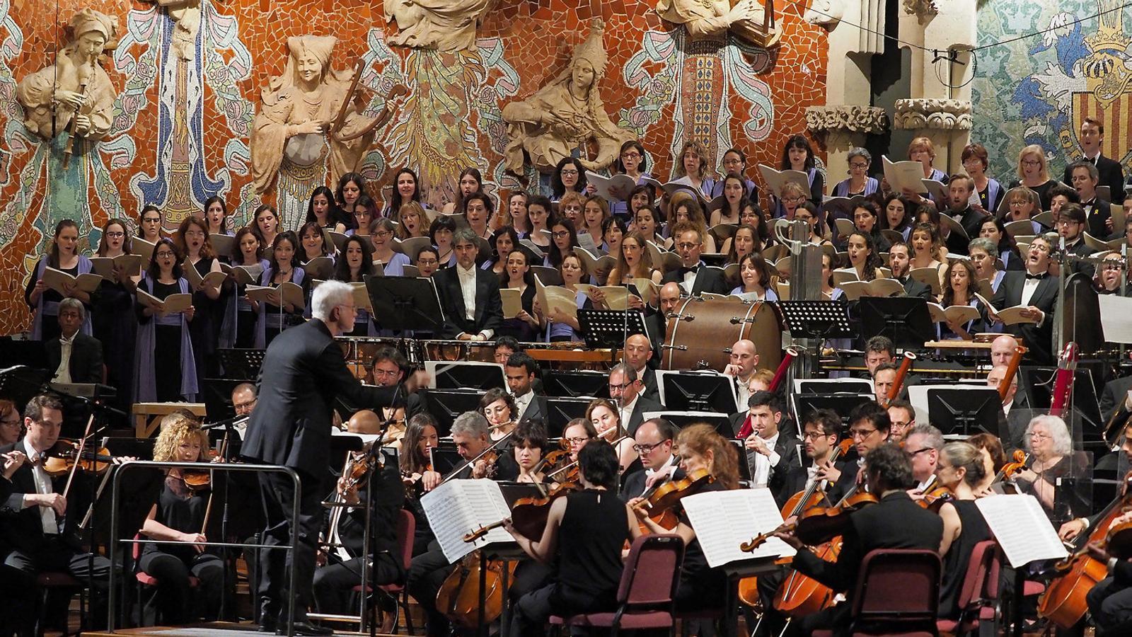 Un moment del concert del Palau de la Música. / ANTONI BOFILL / PALAU DE LA MÚSICA