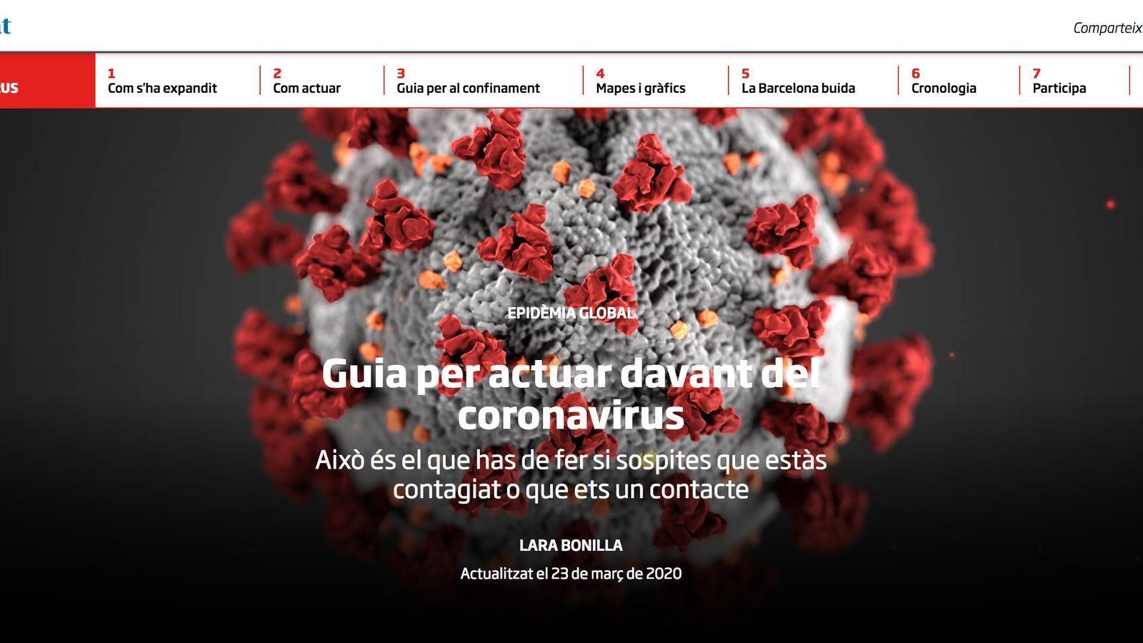 Guia per actuar davant del coronavirus