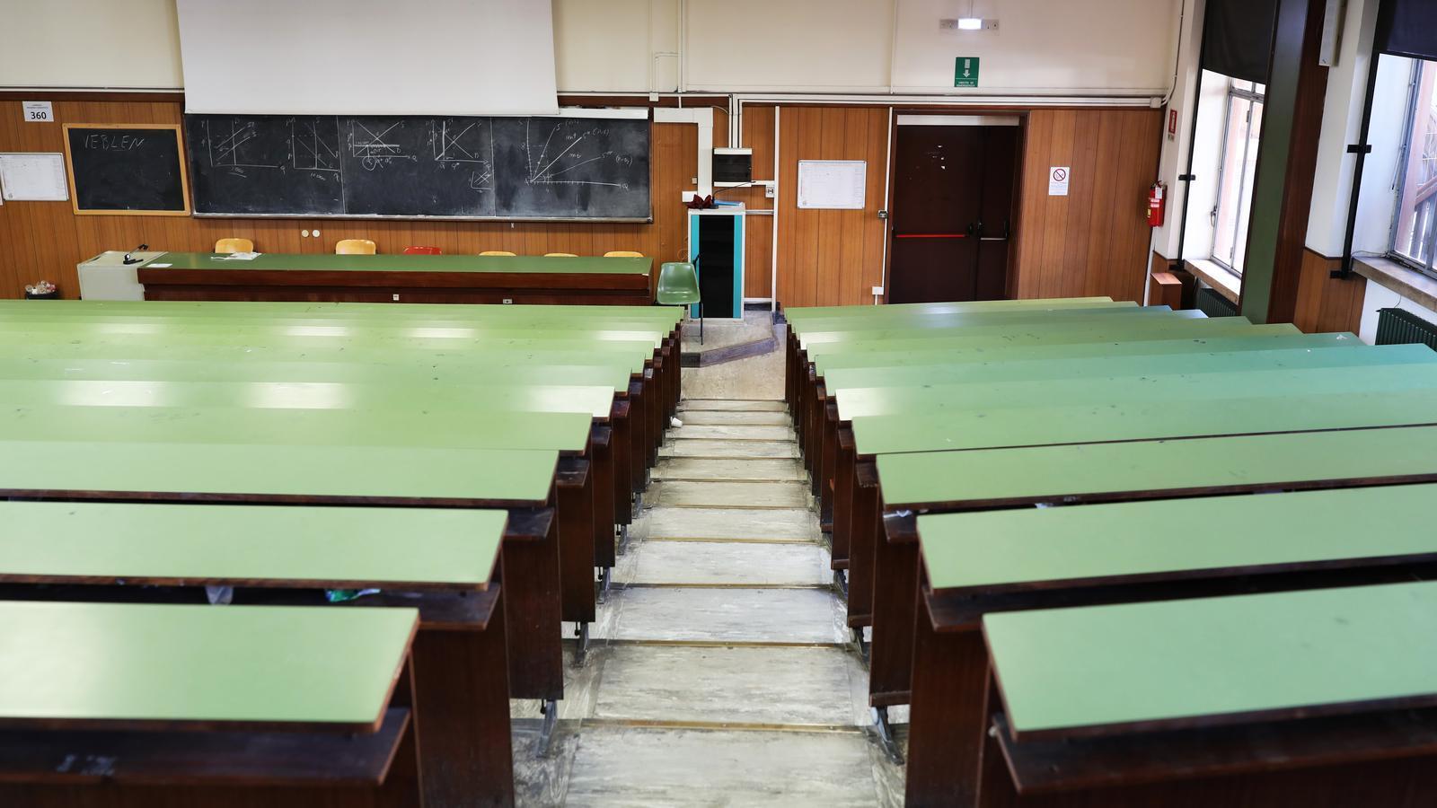 Una aula de la Universitat La Sapienza a Roma