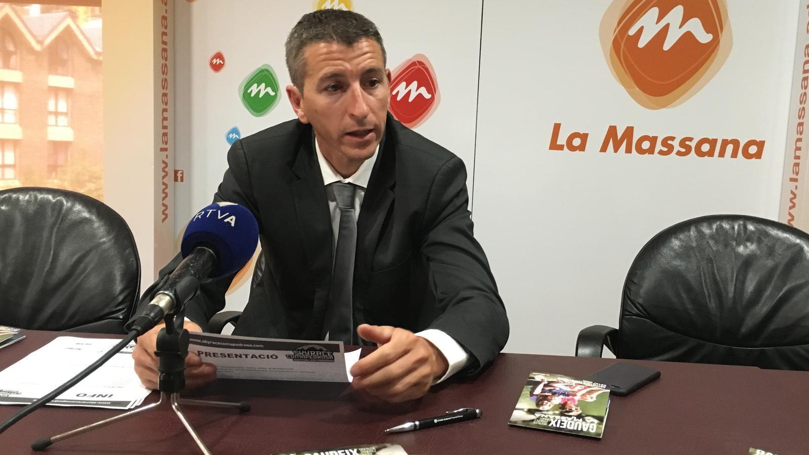 El conseller de Turisme, Sergi Balielles, ha presentat l'oferta turística / COMÚ DE LA MASSANA