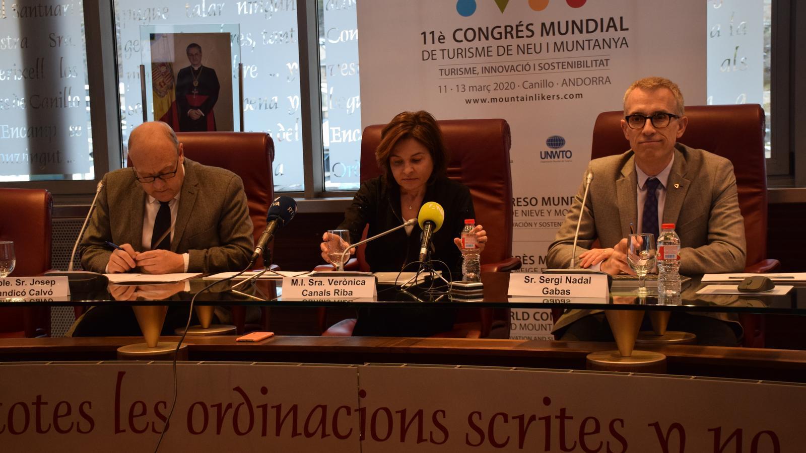 Presentació del l'11è Congrés Mundial de Turisme de Neu i de Muntanya. / M. R. F.