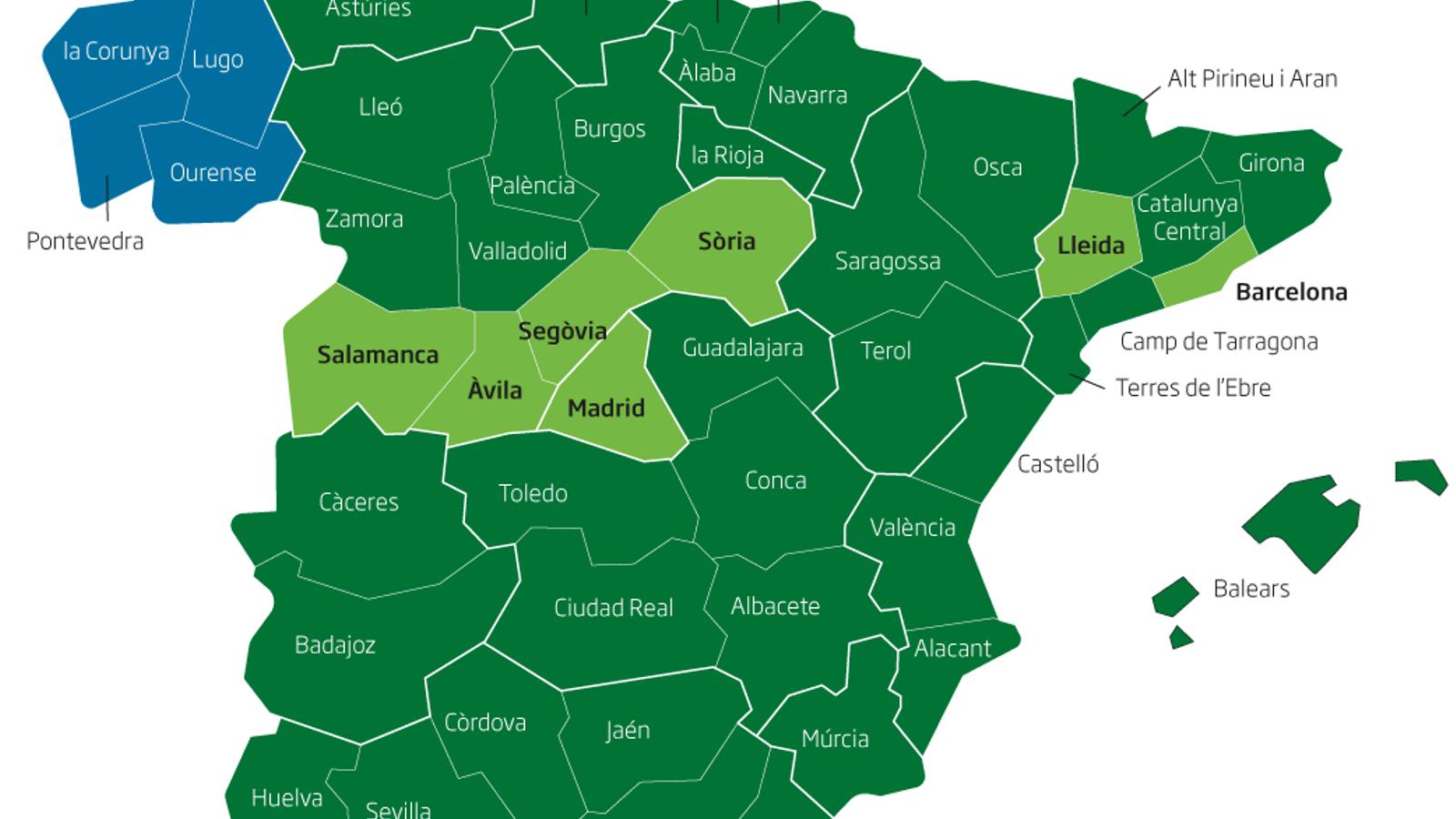 Girona i la Catalunya Central passaran dilluns a la fase 3