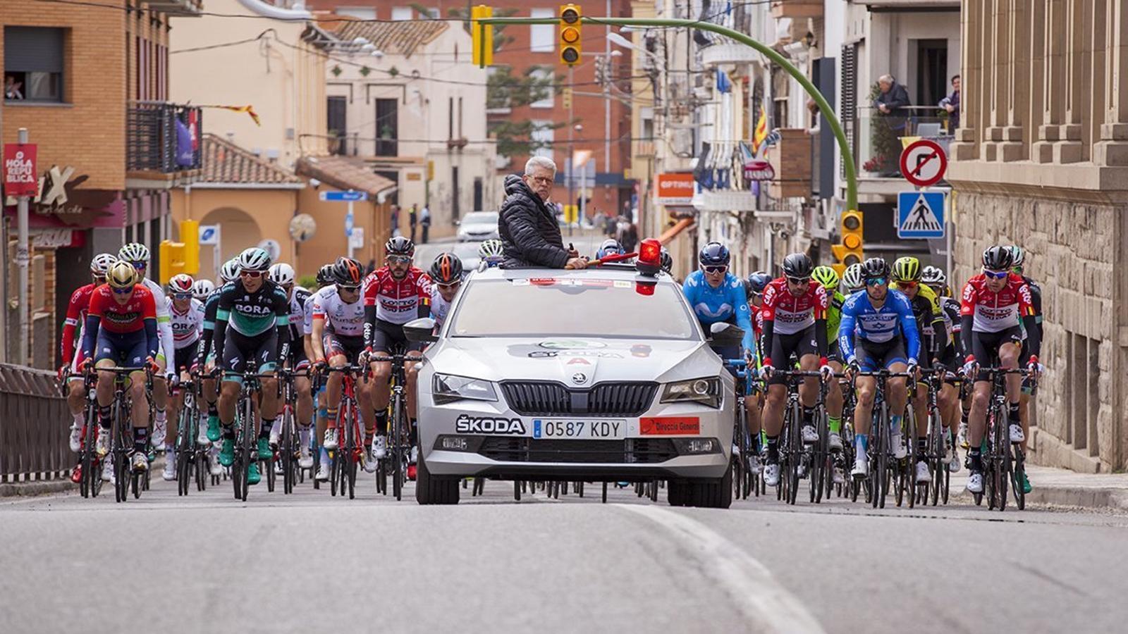 Imatge de la primera etapa de La Volta a Catalunya del 2018