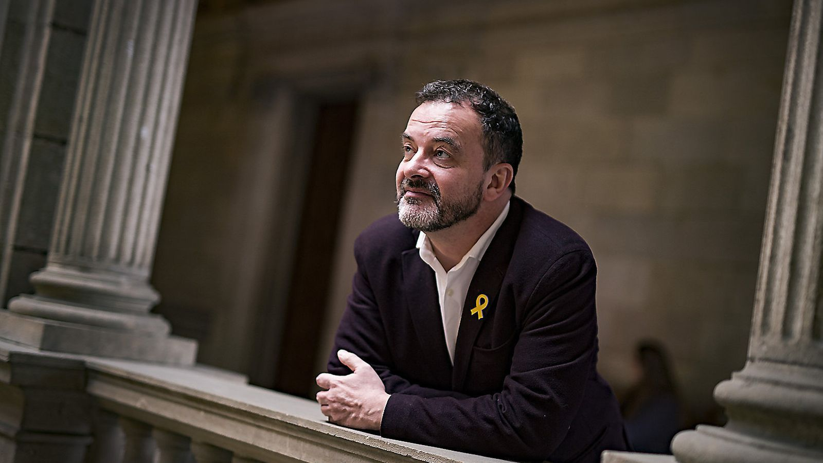 El líder municipal d'ERC a Barcelona, Alfred Bosch, a l'Ajuntament, en una imatge del març.
