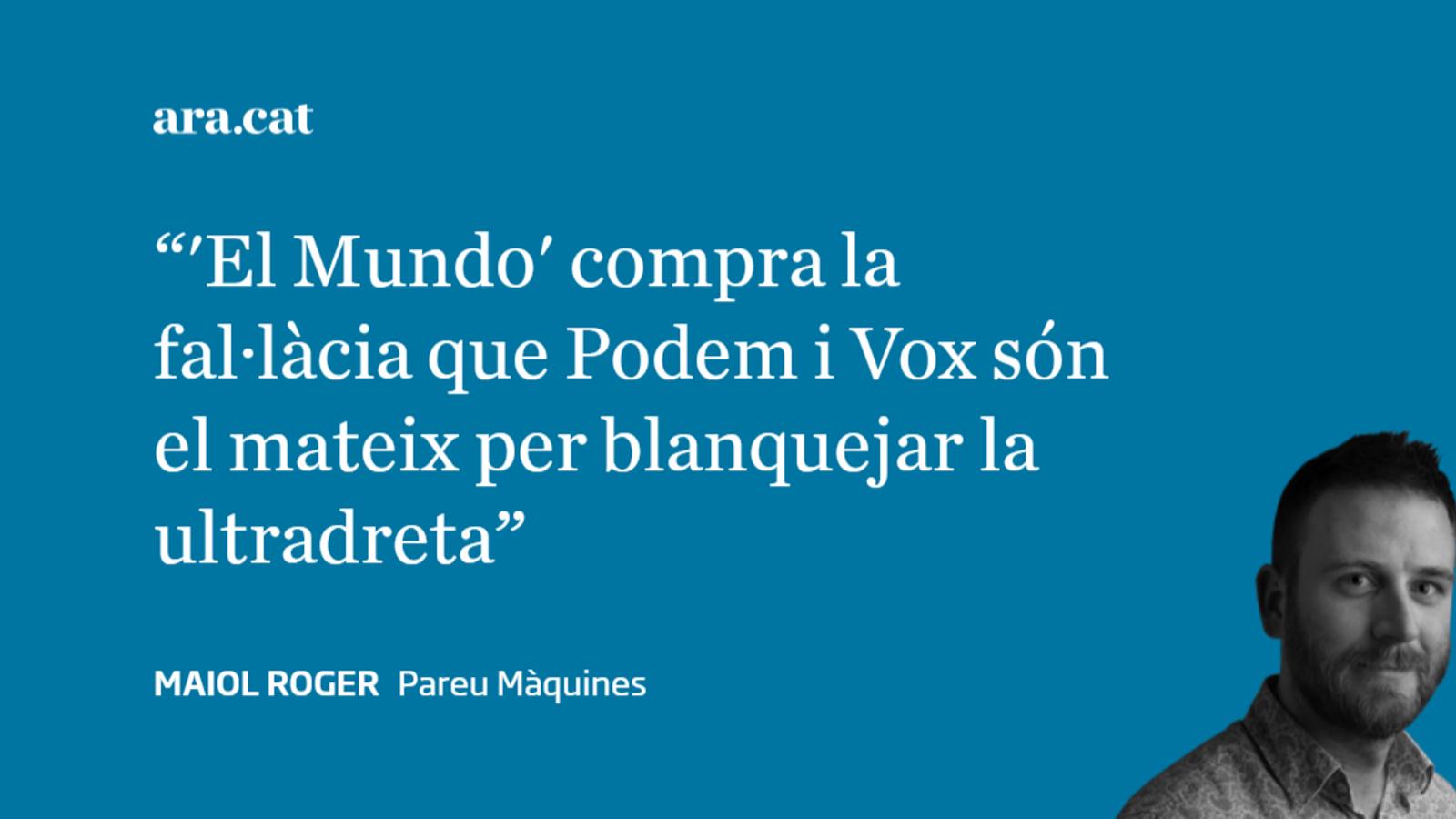 'El Mundo' ja demana un canvi  de règim auspiciat per Vox