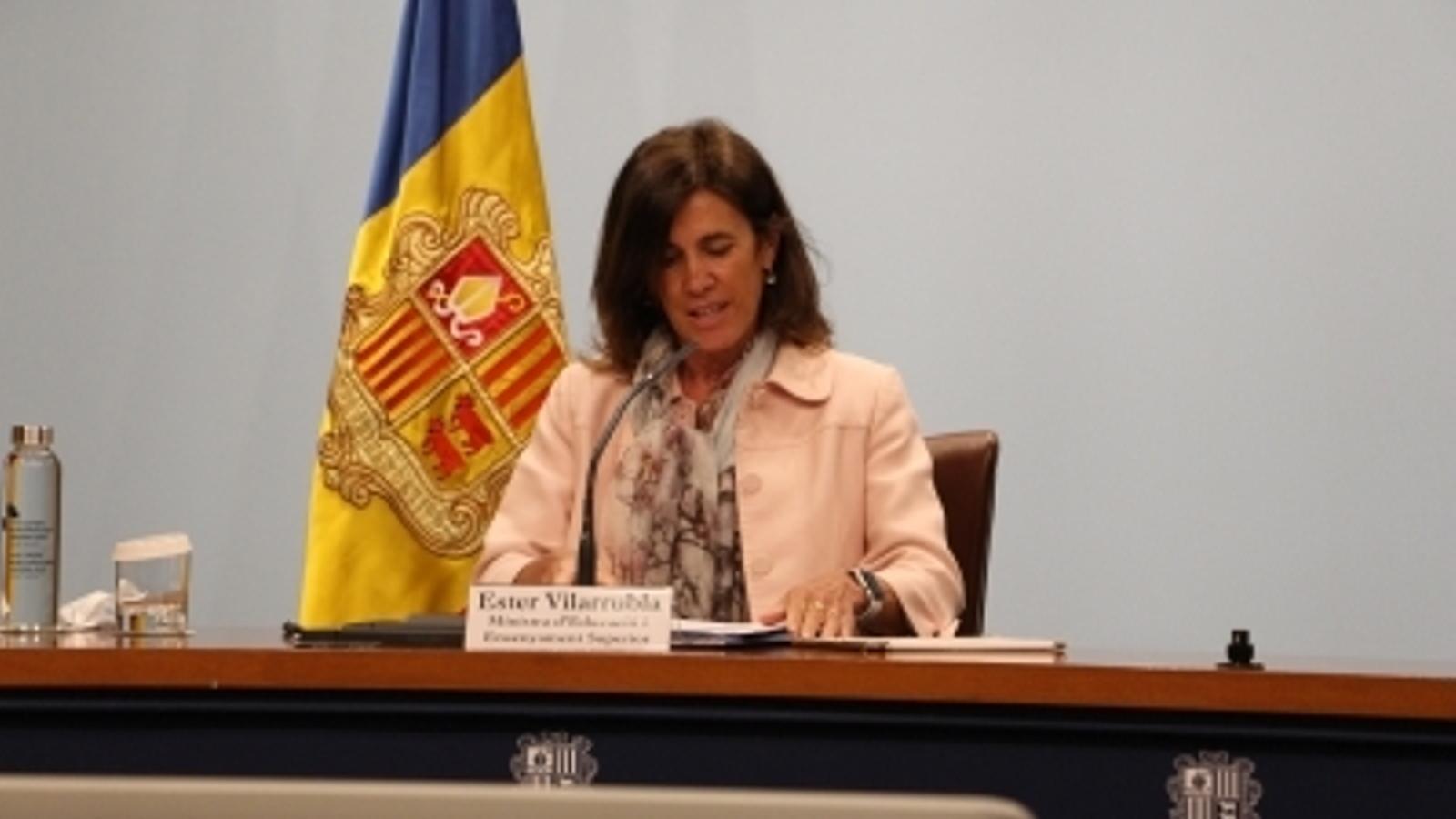 Ester Vilarrubla és ministra d'Educació