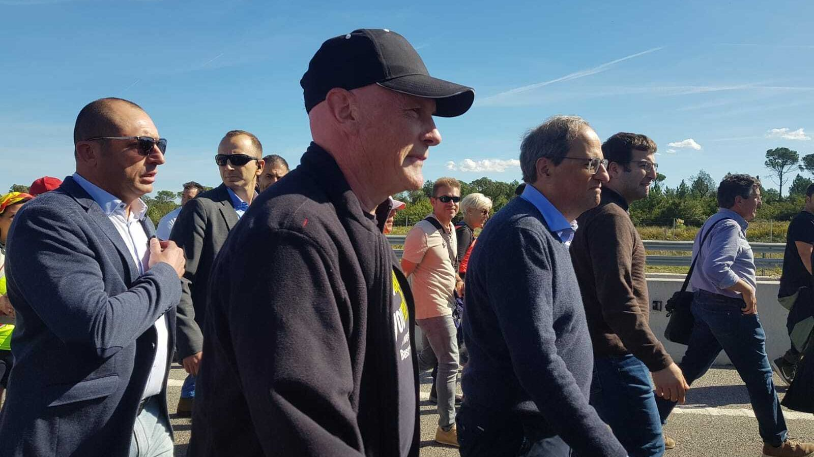 El president de la Generalitat, Quim Torra, participa en la Marxa de Girona