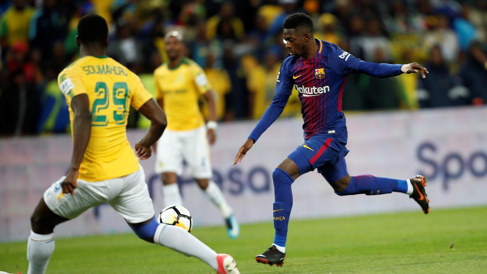 Ousmane Dembélé contra el Mamelodi Sundowns