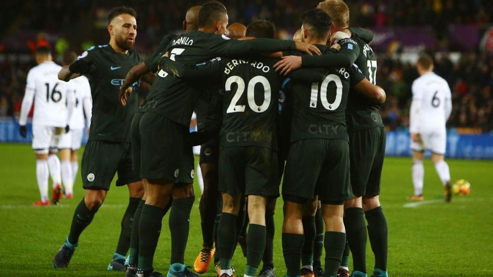El City no ha fallat al camp del Swansea