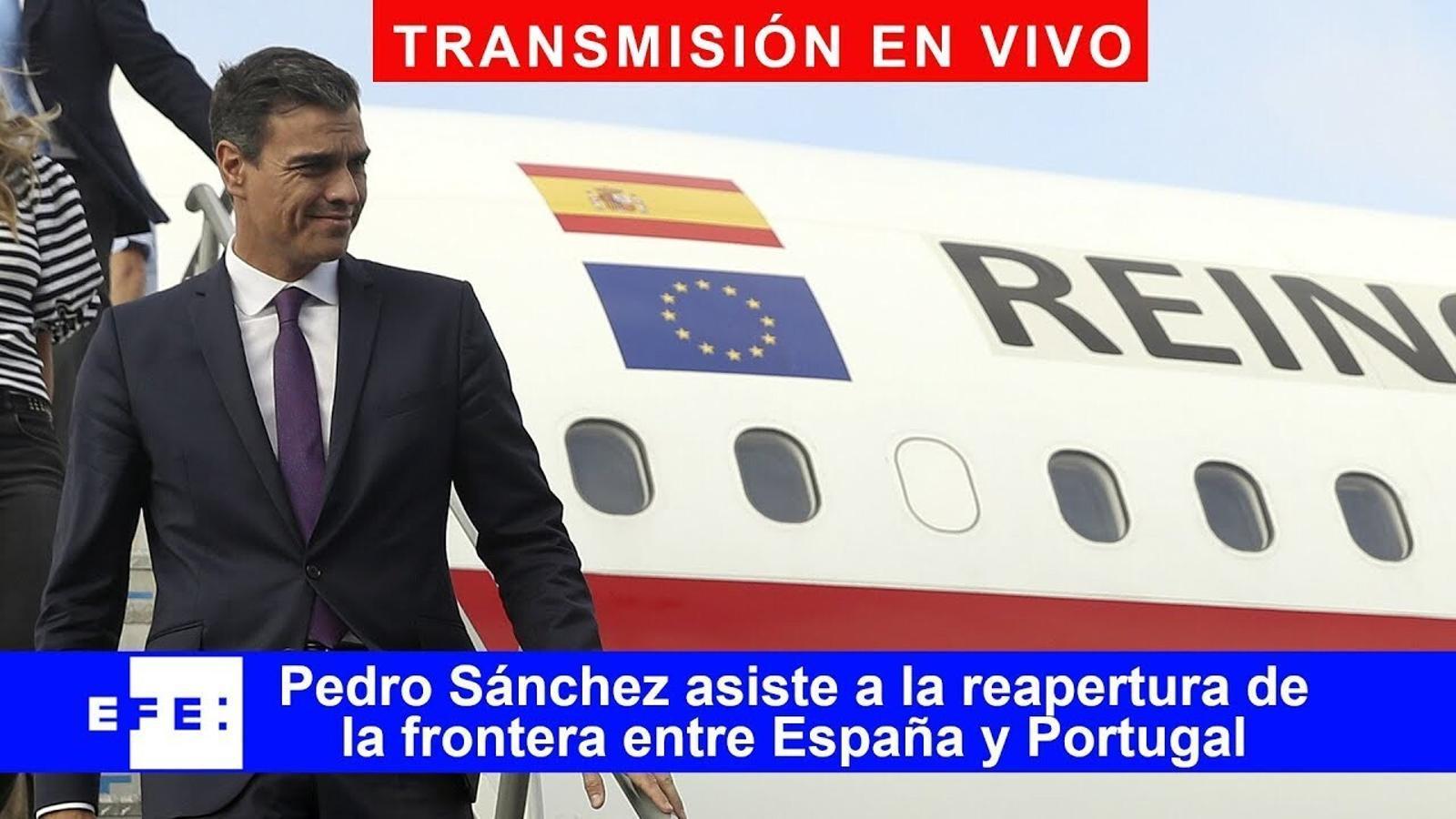 EN DIRECTE | Acte institucional de la reobertura de la frontera entre Espanya i Portugal amb Sánchez, Costa i Felip VI