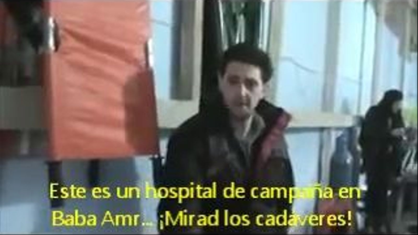 L'hospital de Baba Amr, a Homs, acull els ferits del bombardeig (subtítols en castellà)