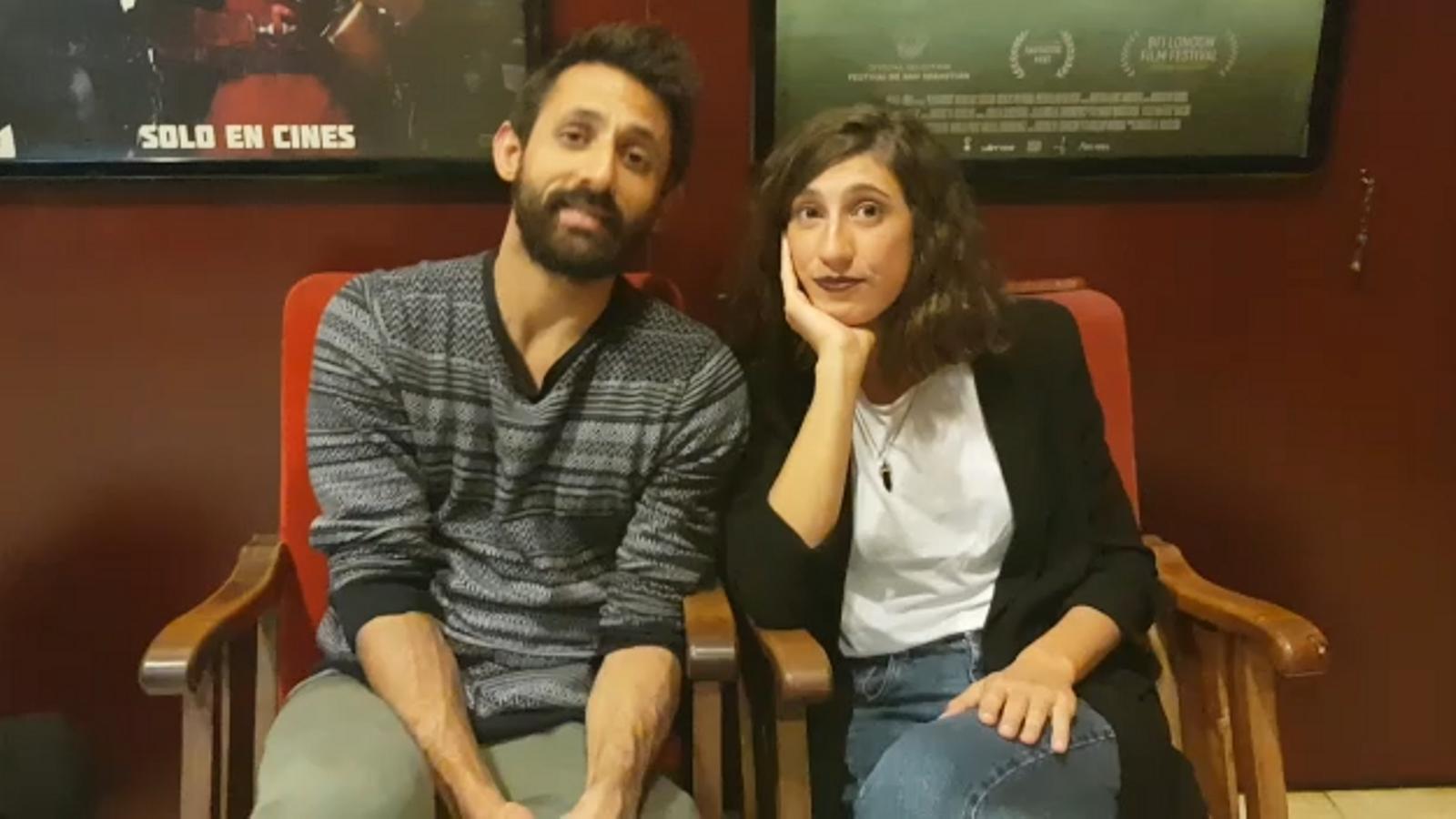 Els protagonistes de 'Background', Diego Ingold i Aina Zuazaga