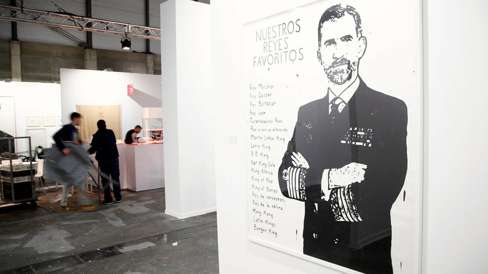 Lluís Bassat compra el quadre pop del rei Felip VI a Arco