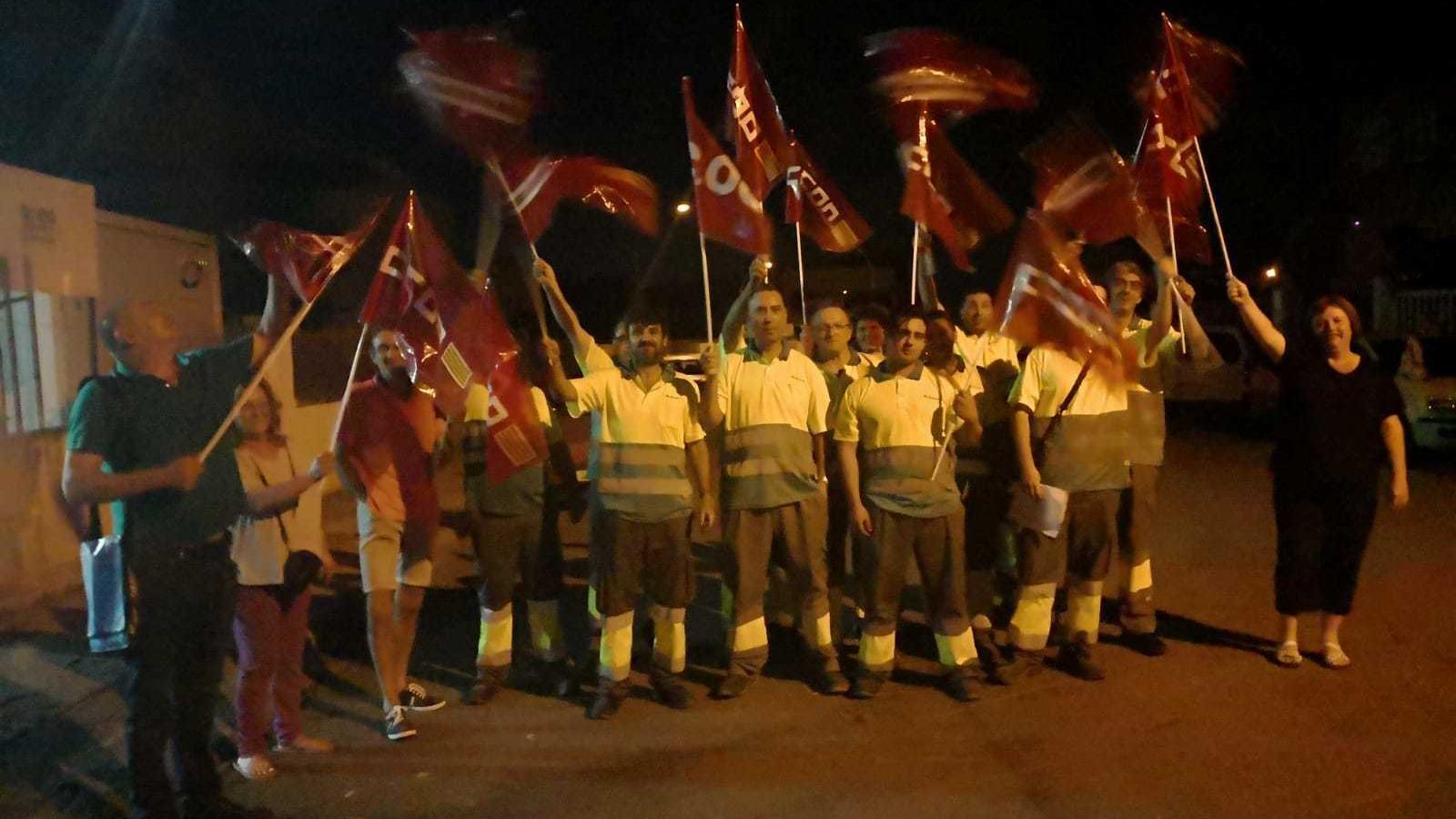Els treballadors de Lumsa han començat l'aturada a primera hora d'aquest dijous.