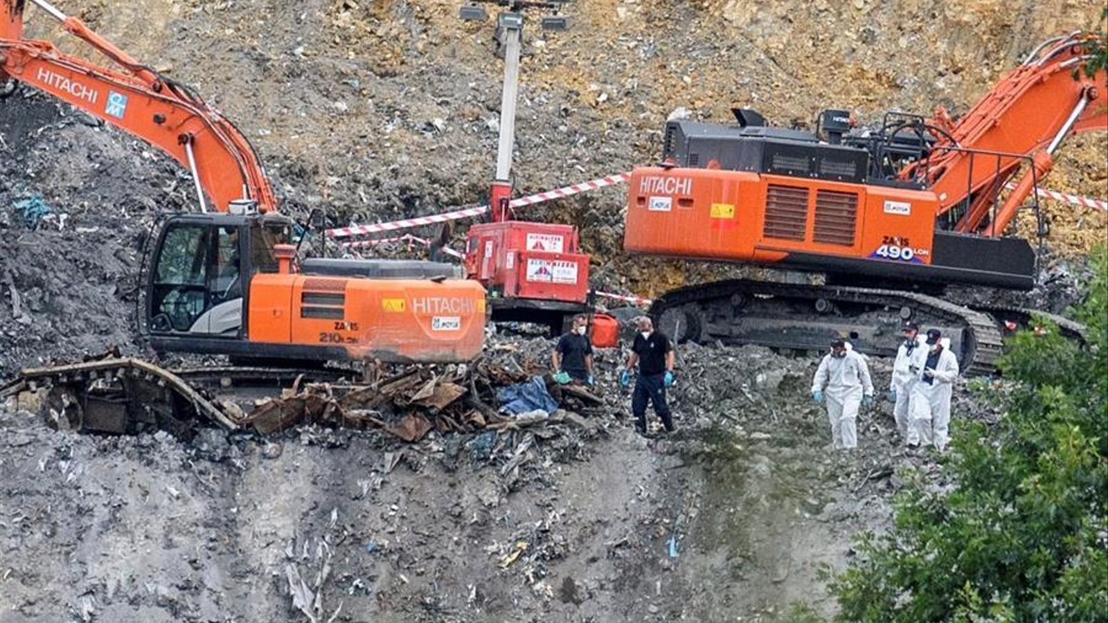 Es reprèn la recerca a l'abocador de Zaldibar mig any després de l'accident que va sepultar dos treballadors
