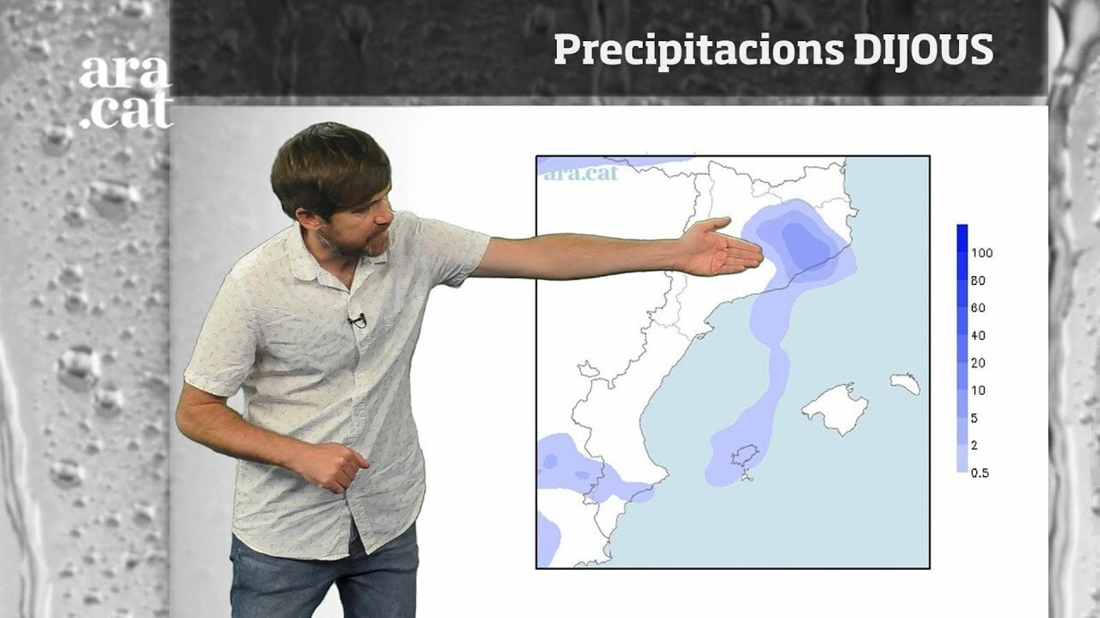 La méteo en 1 minut: ruixats localment forts i temperatures més baixes