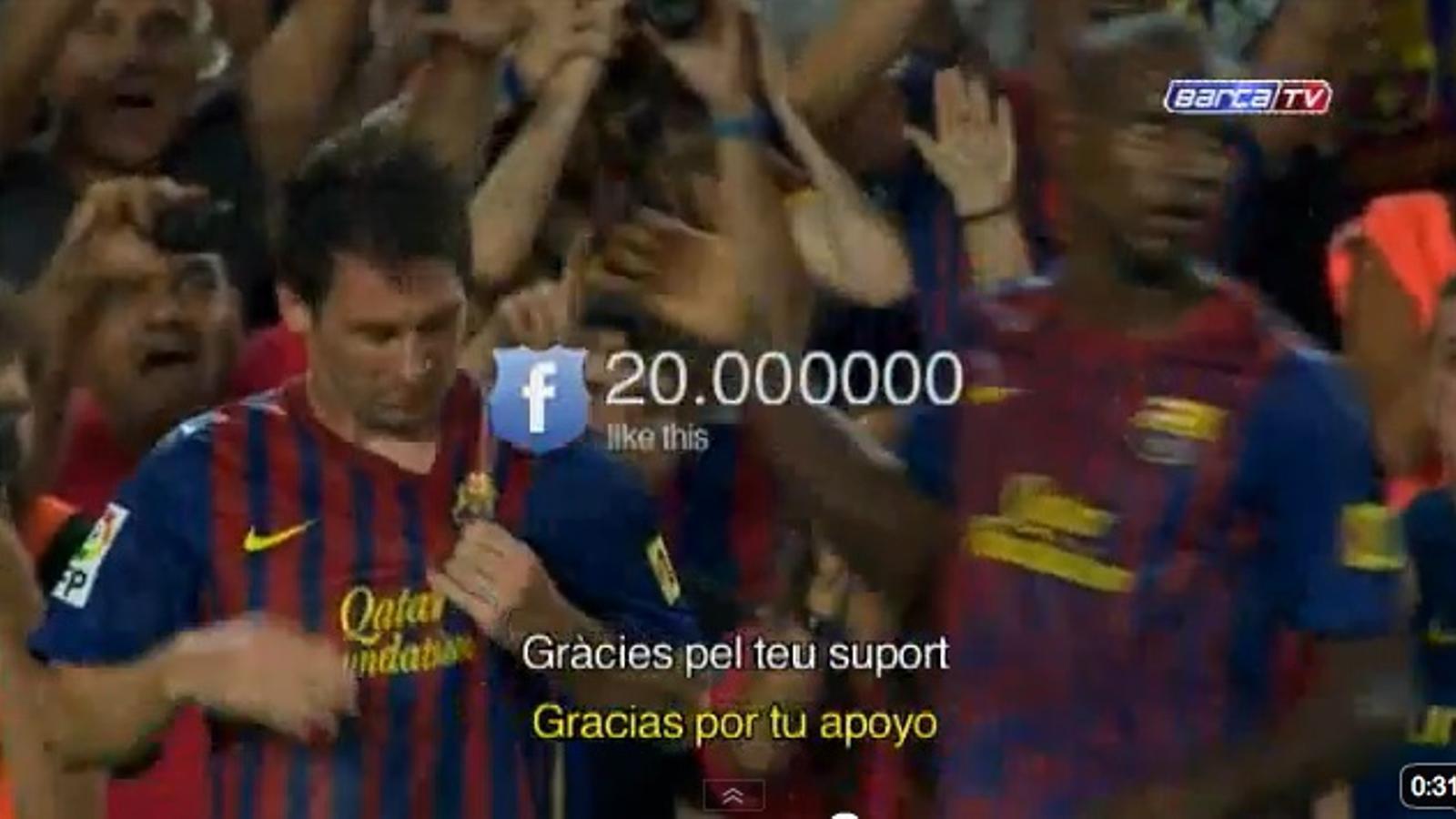 El Barça assoleix els 20 milions de seguidors a Facebook
