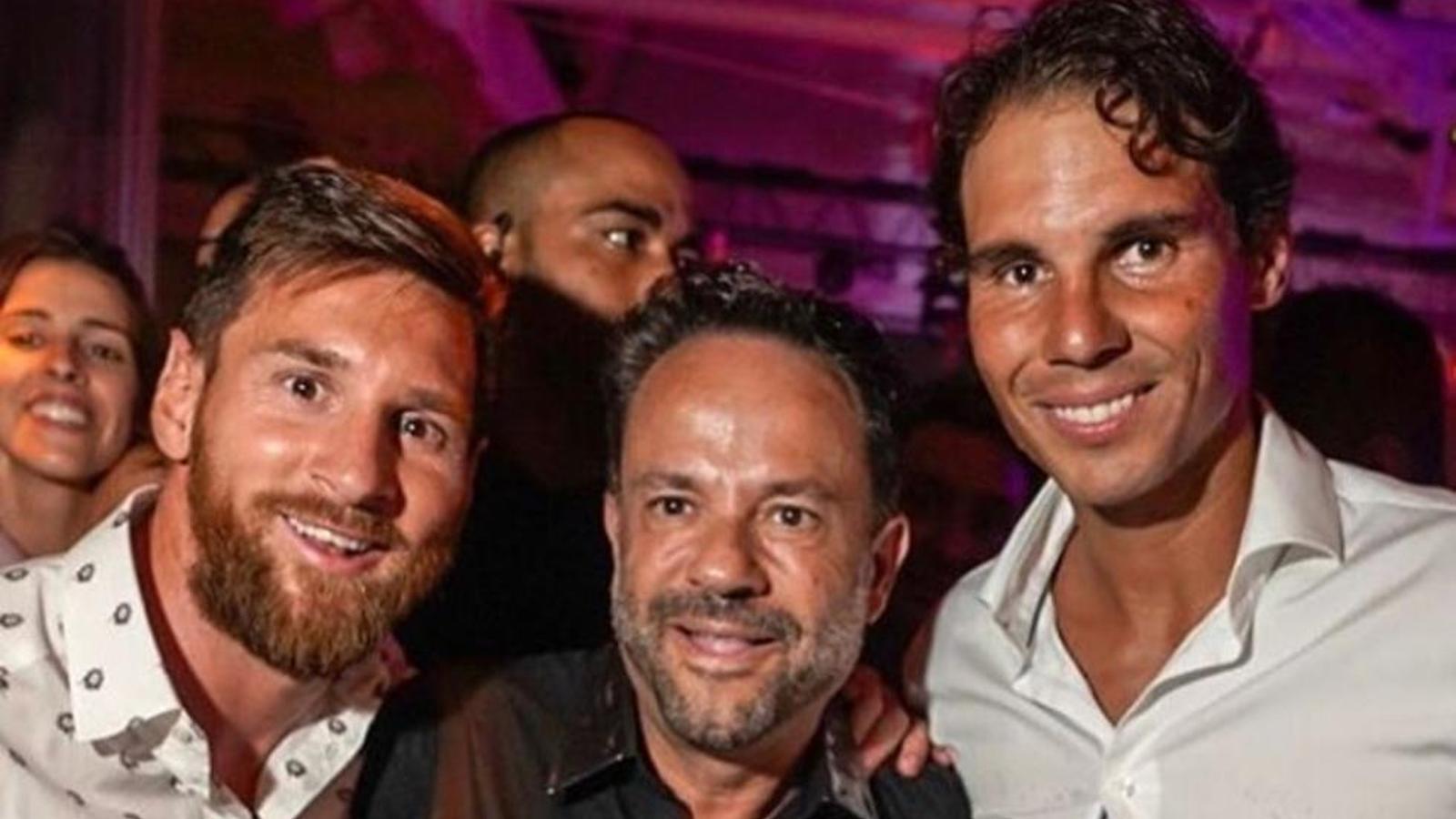 Rafel Nadal i Leo Messi junts a Eivissa