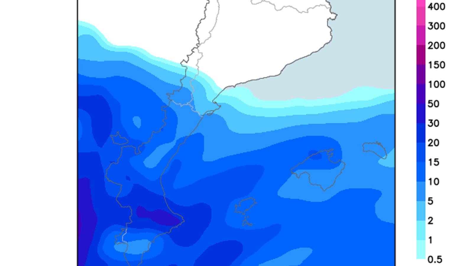 Pluges i temperatura sense canvis a les Balears