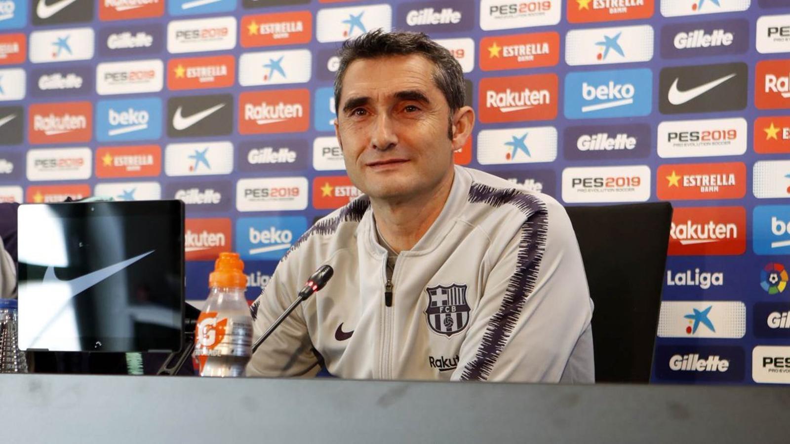 Ernesto Valverde en roda de premsa