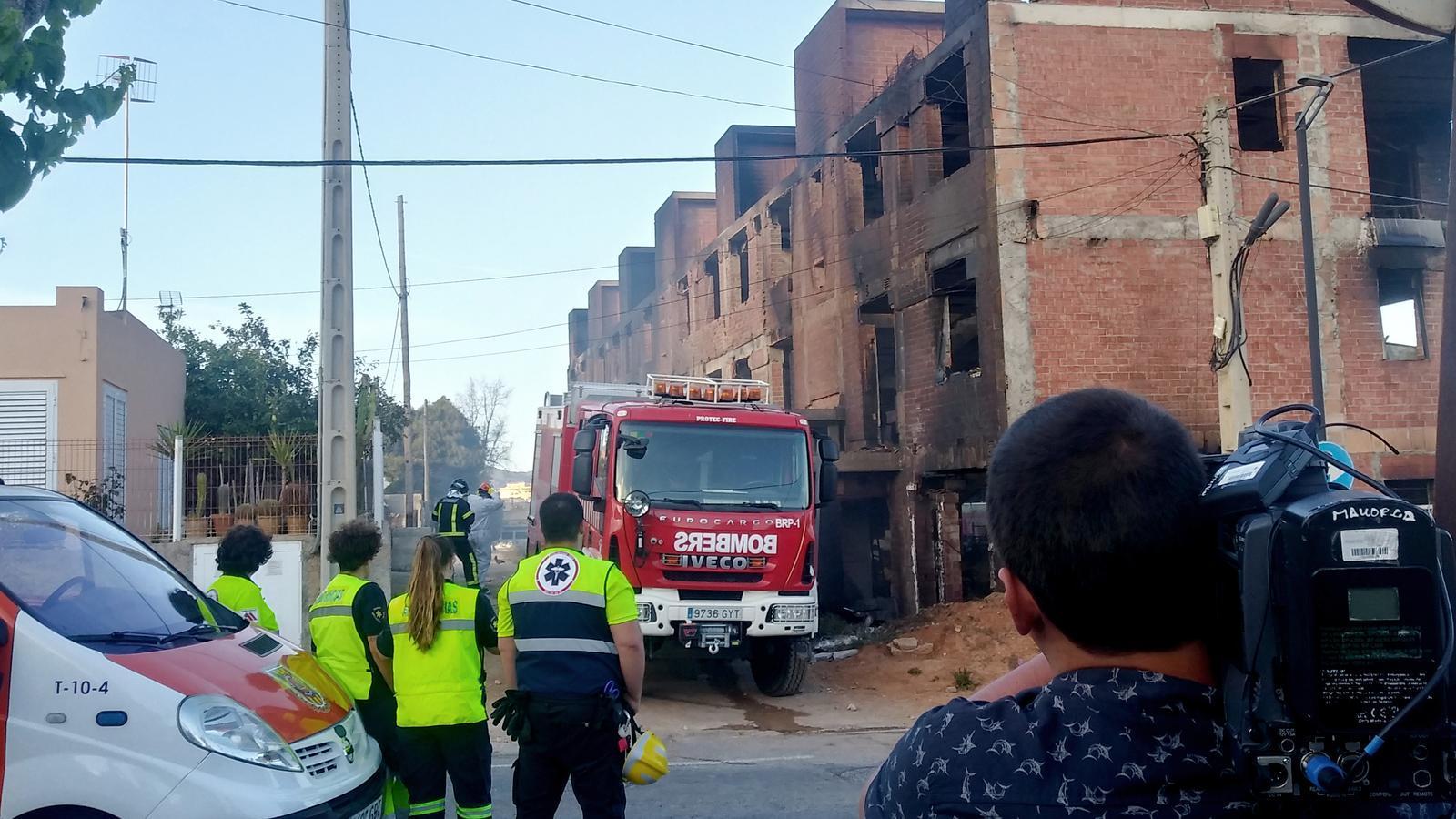 L'edifici cremat a Eivissa havia quedat a mig fer i feia anys que estava ocupat