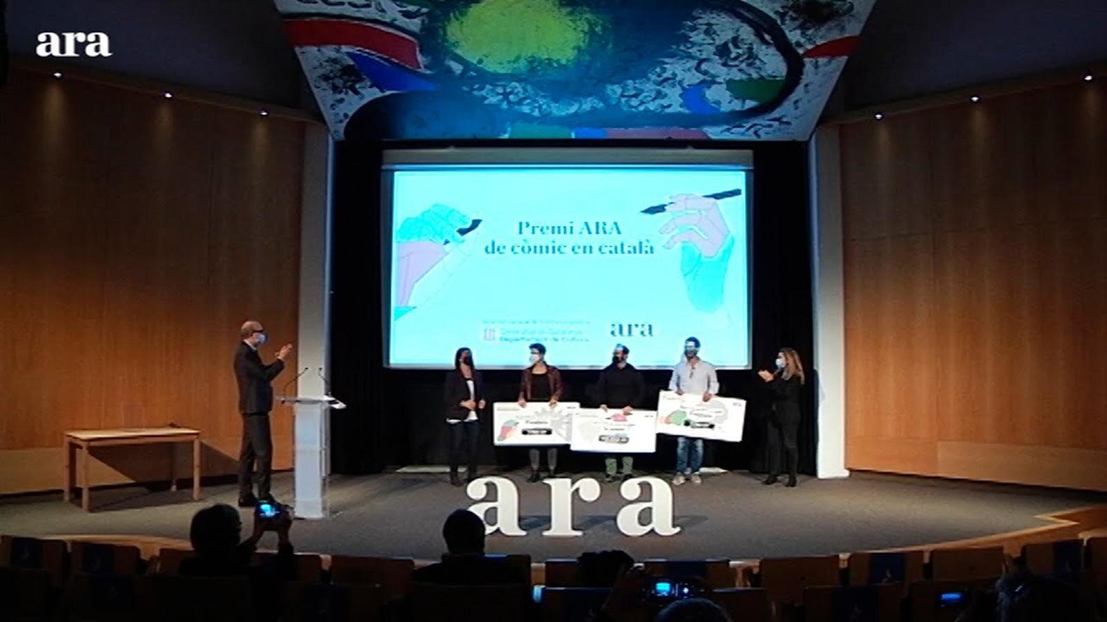 Acte del Premi Ara del Còmic en Català