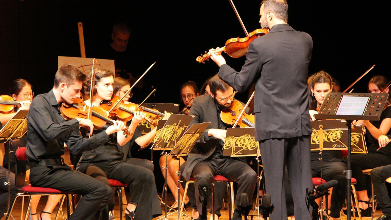 La JONCA ha ofert el tradicional Concert de Meritxell a l'Auditori Nacional d'Andorra. / M. P. (ANA)