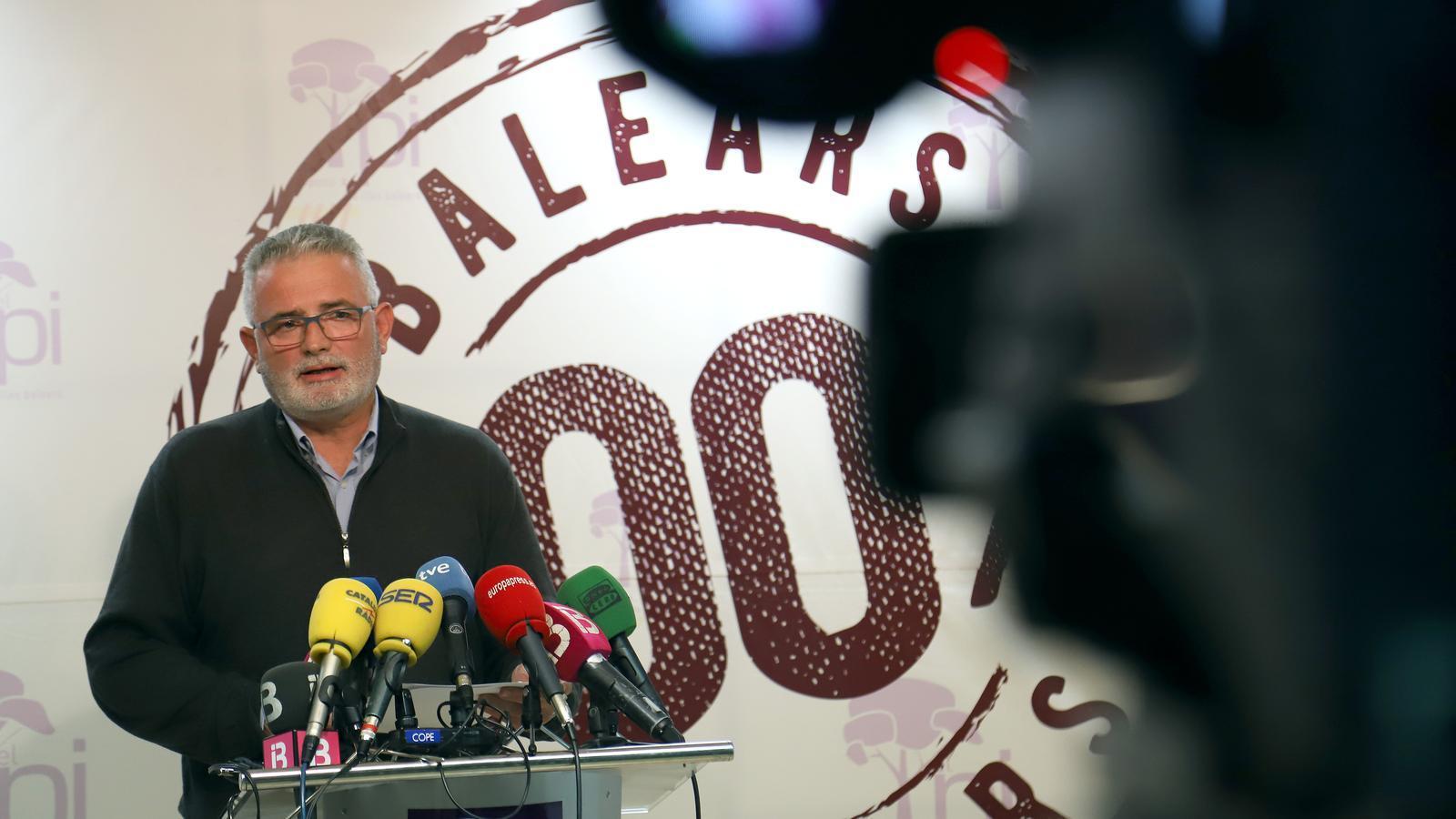 Jaume Font durant la roda de premsa en què ha anunciat que abandona la primera línia de la política