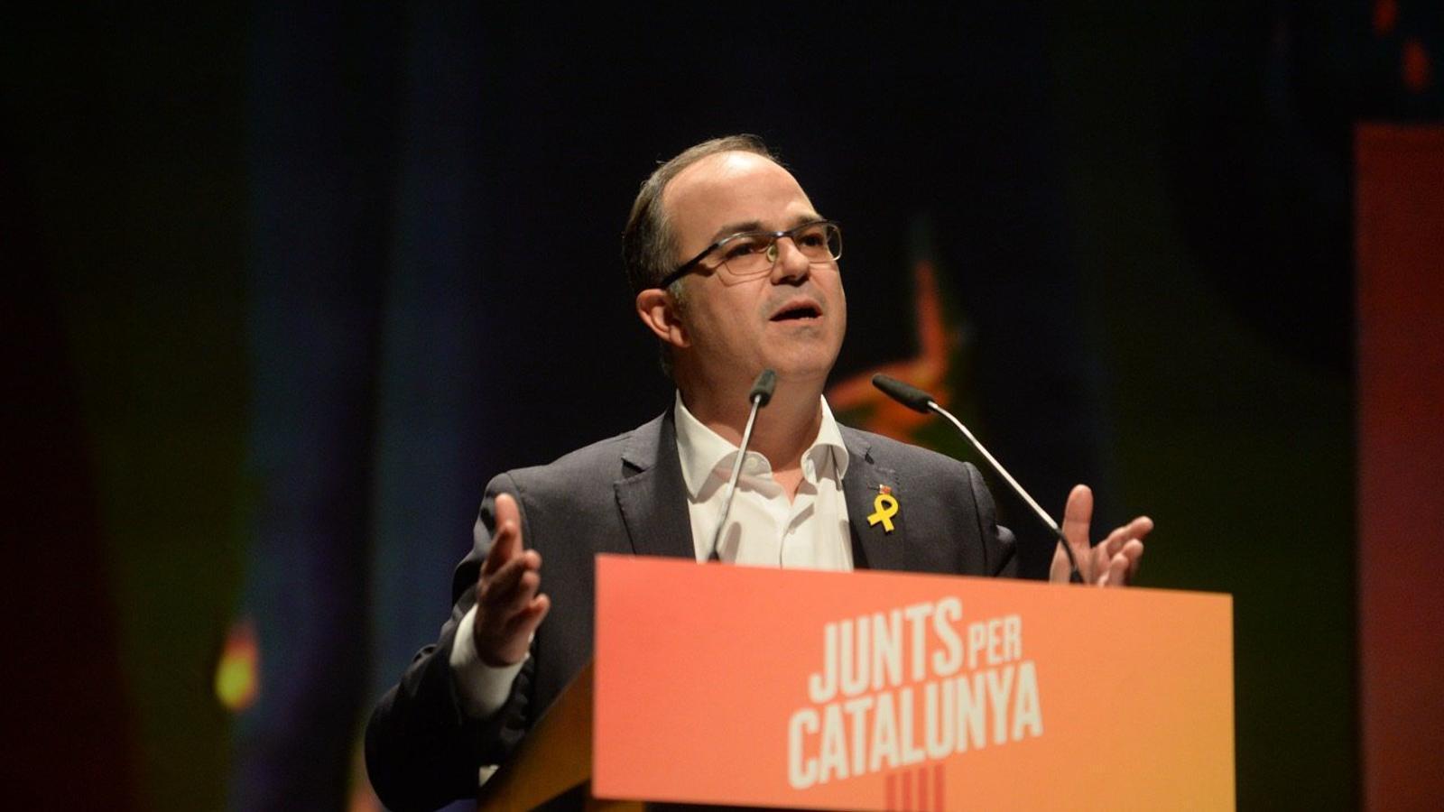 Turull afirma que triar un altre president que no sigui Puigdemont implica acceptar que Rajoy el pot canviar