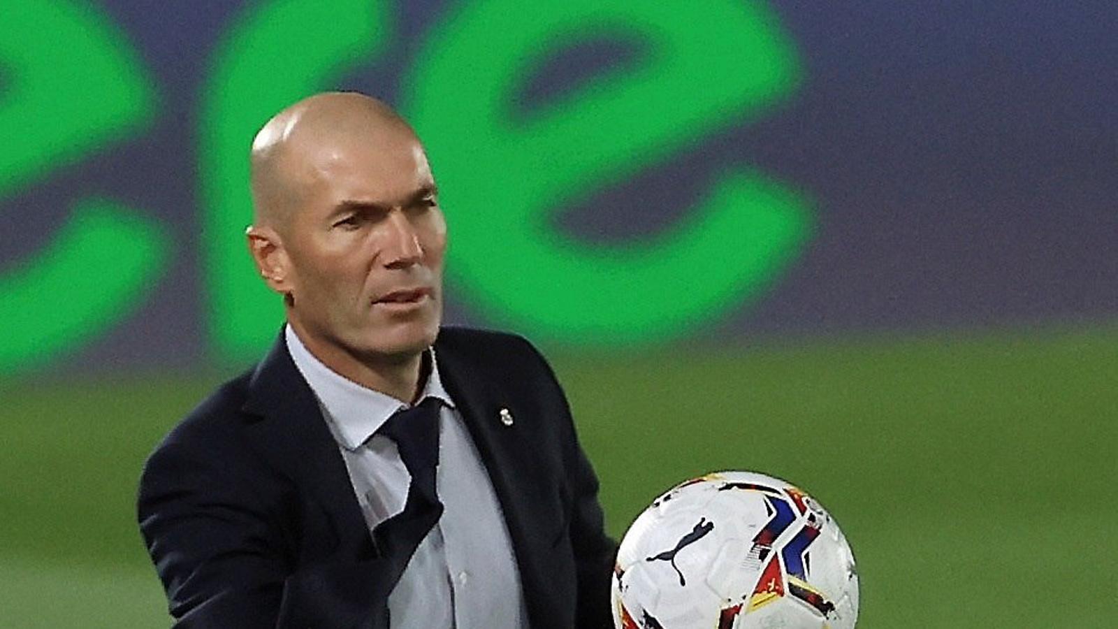 Zinedine Zidane durant un partit d'aquesta temporada.