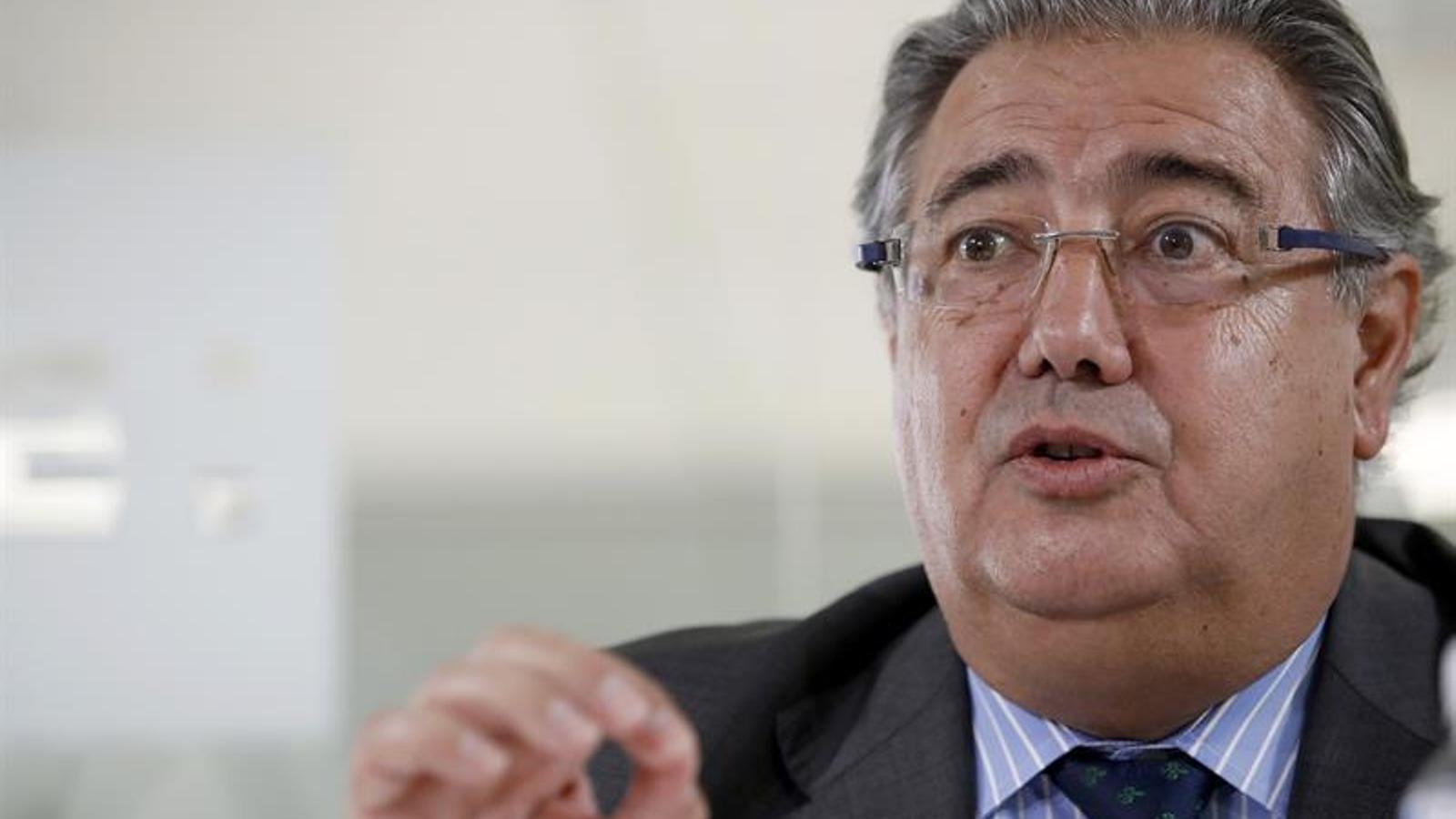 El ministre de l'Interior, Juan Ignacio Zoido, durant l'entrevista a l'agència EFE.
