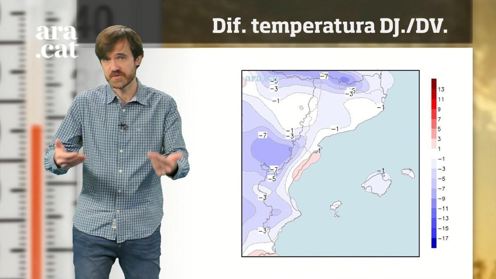 La méteo en 1 minut: pluges puntuals i migdies més freds