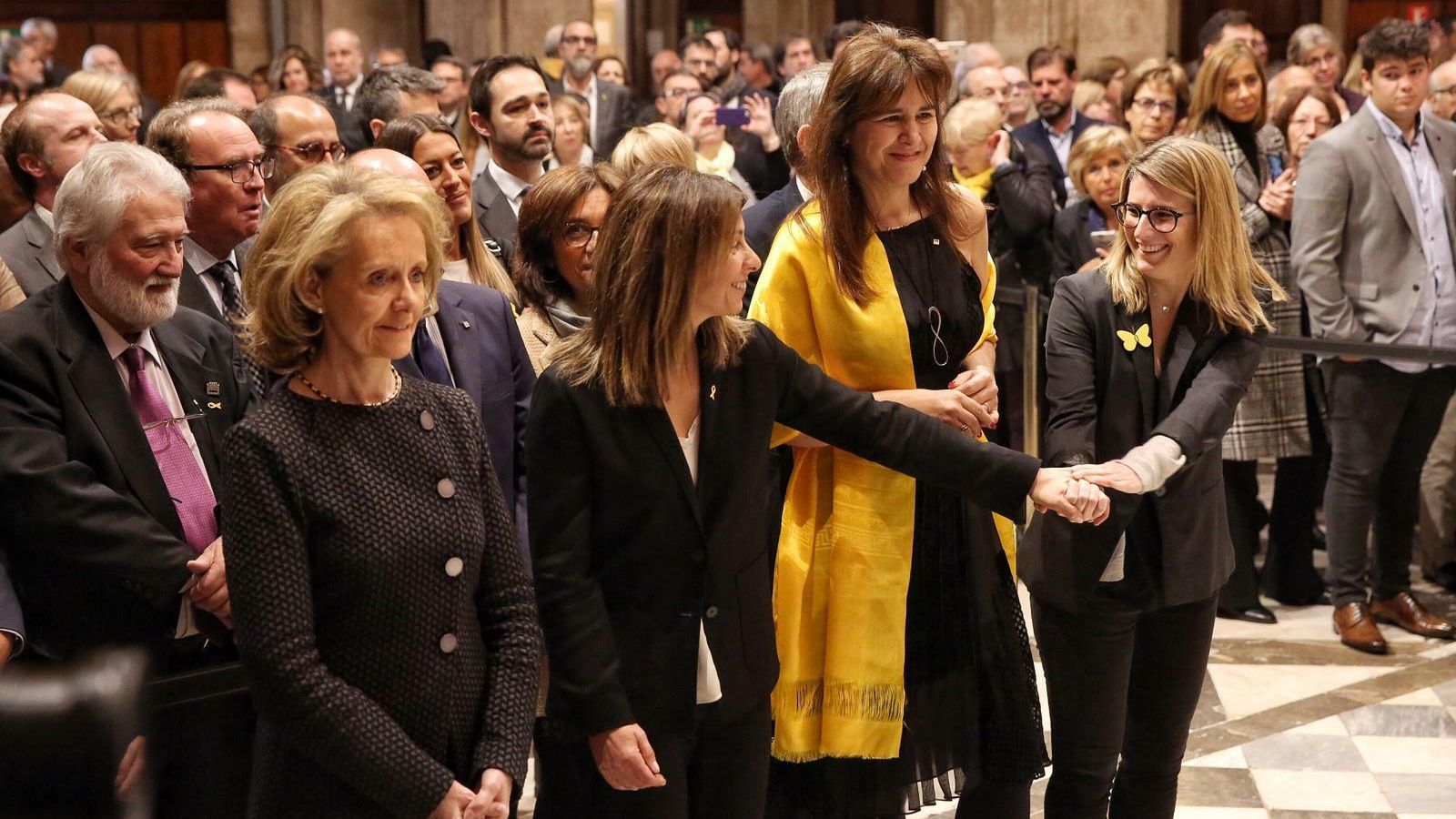 Meritxell Budó i Mariàngela Vilallonga prenen possessió com a noves conselleres del Govern de Torra