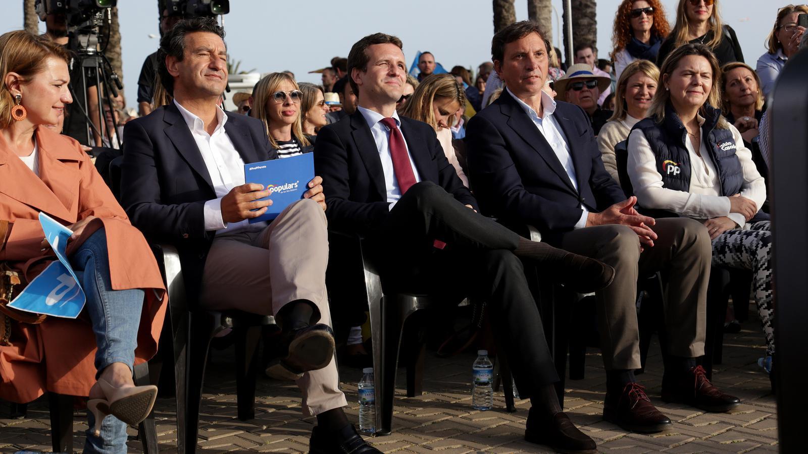 Imatges del míting de Pablo Casado a Palma