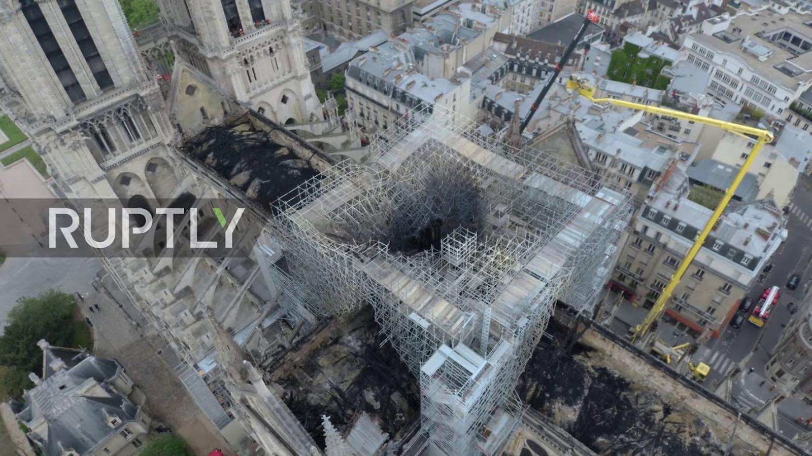 Notre-Dame, a vista de dron