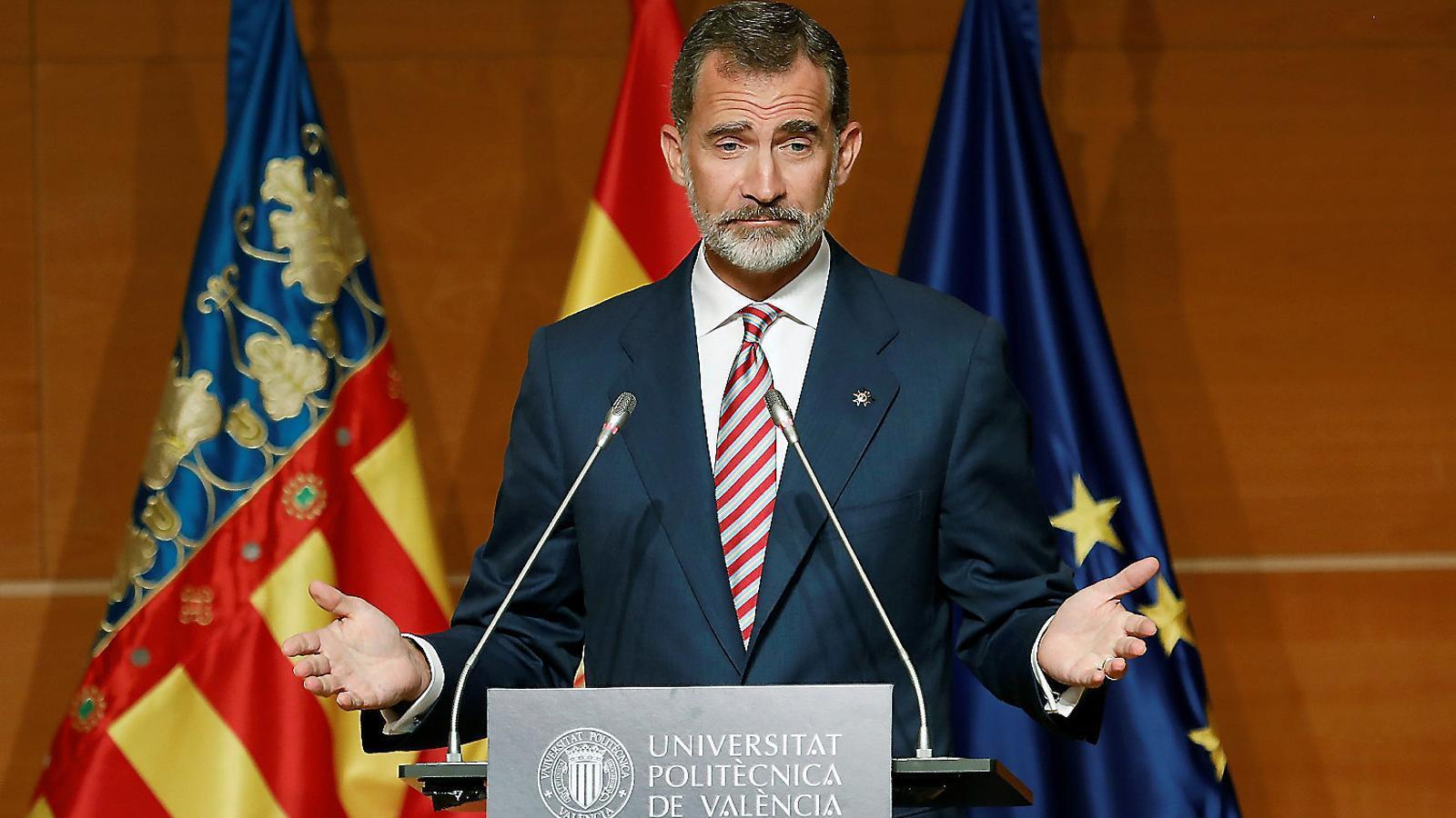 Felip VI  Aquest setembre a la Universitat Politècnica  de València.