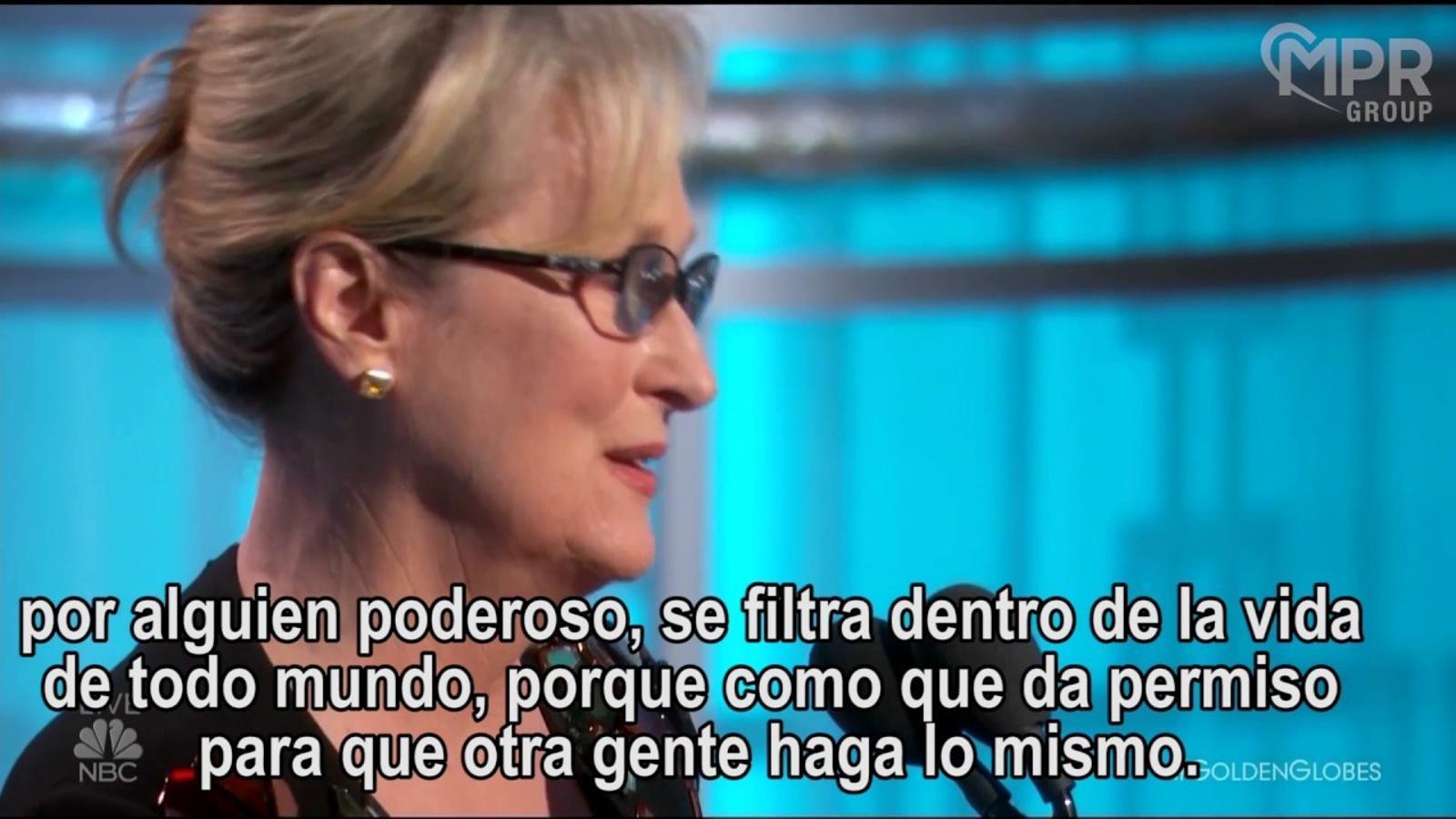 Meryl Streep posa en evidència les misèries de Donald Trump en el seu discurs als Globus d'Or