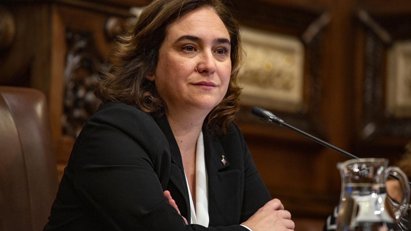 Una imatge d'arxiu de l'alcaldessa Ada Colau en un ple