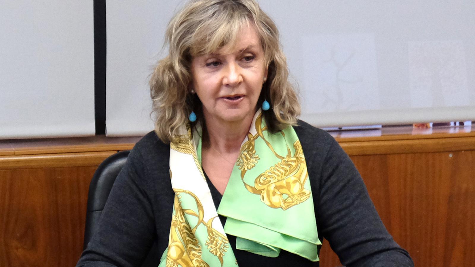 Maria Reig, una de les principals accionistes de Crèdit Andorrà. / M. T.