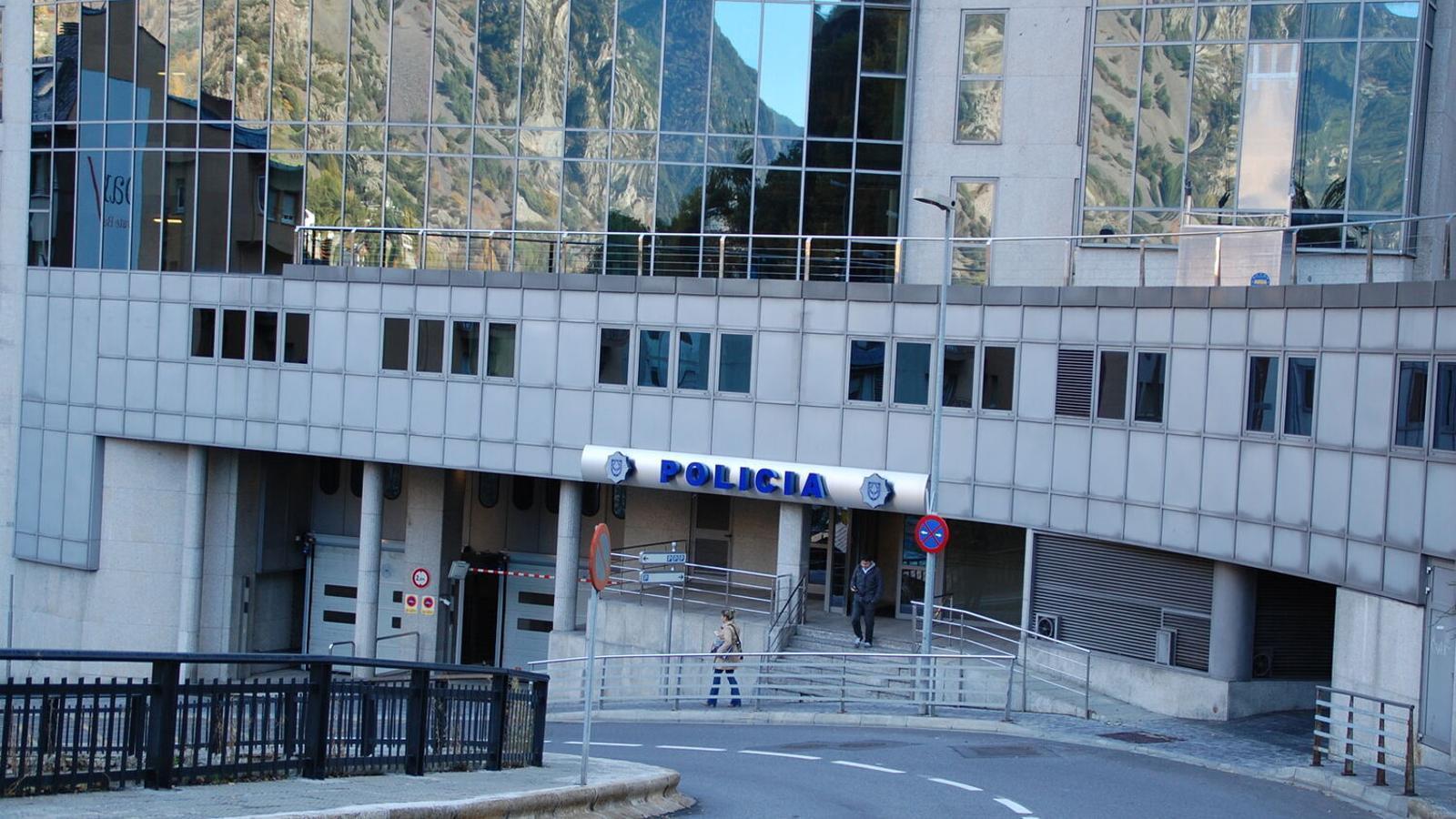 L'edifici central de la policia. / ARXIU ANA