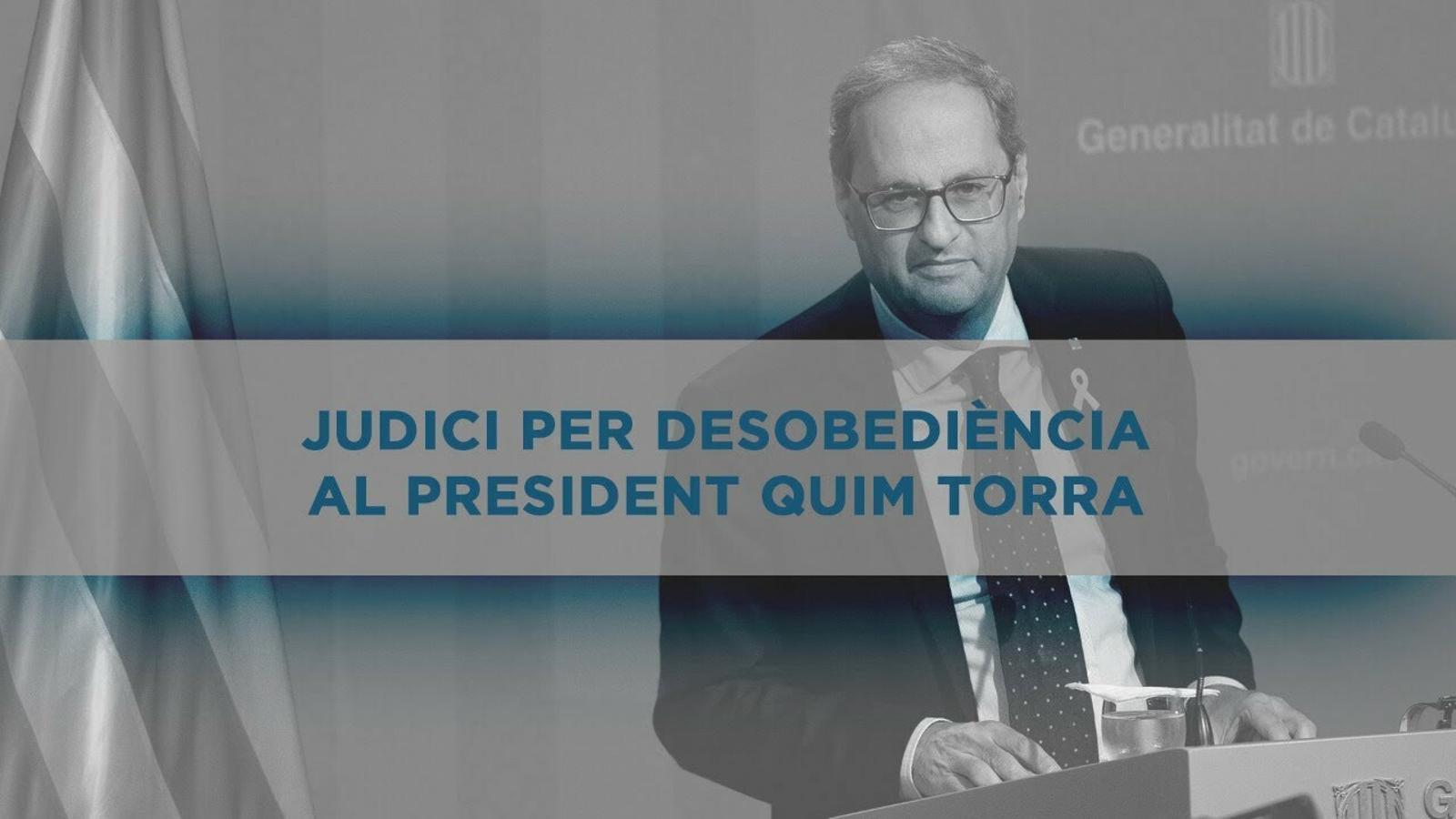 Judici per desobediència al president Quim Torra (sessió matí)