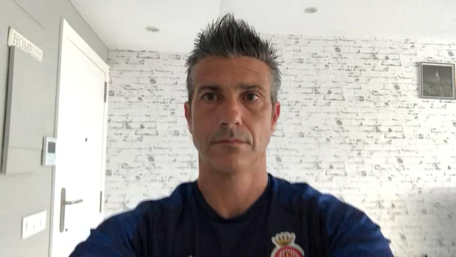 Pep Lluís Martí, tècnic del Girona, valora positivament el retorn de la Lliga