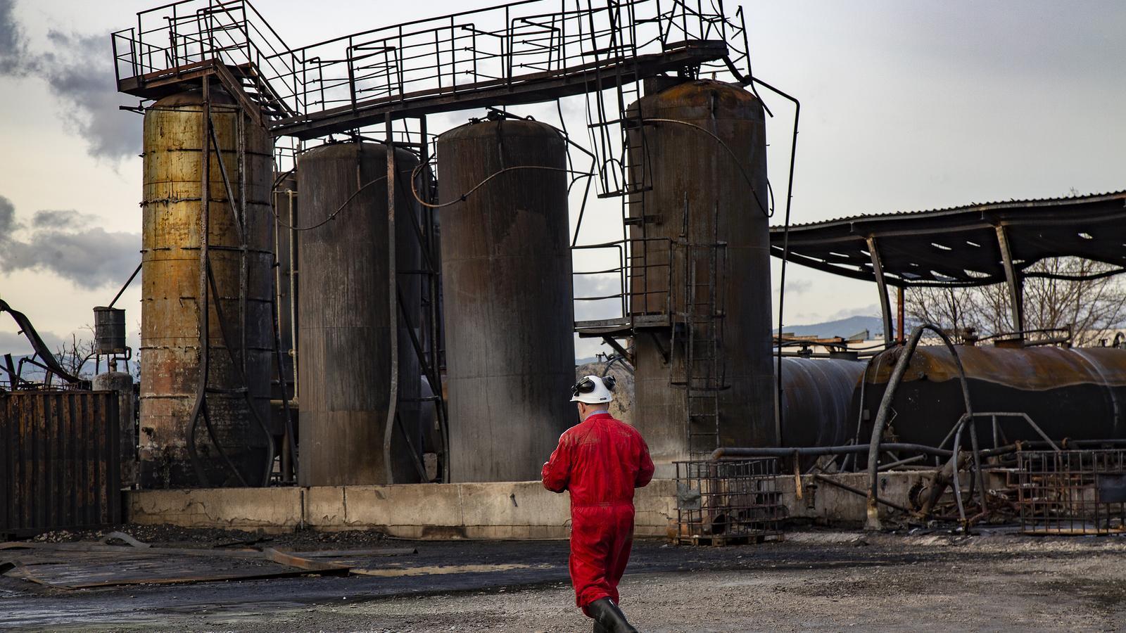 Les instal·lacions de la fàbrica de Montornès del Vallès que van cremar ahir