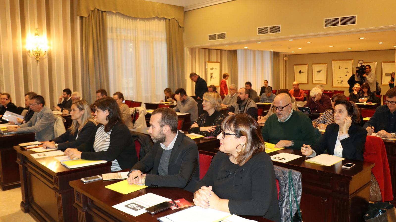 Imatge del primer ple del Consell Social de la Llengua Catalana d'aquesta legislatura