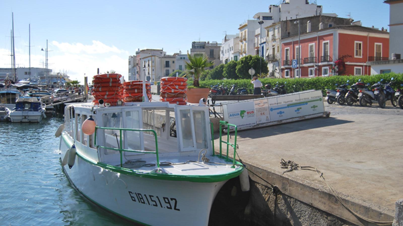 Embarcació de la companyia afectada pèr l'incident.