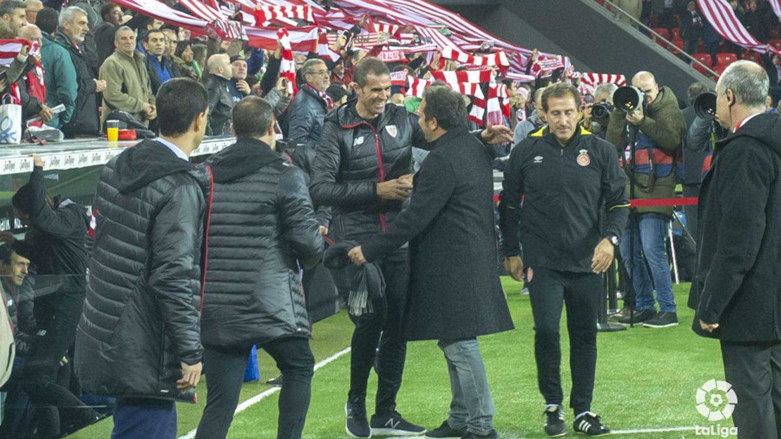 Garitano i Eusebio, abans del partit