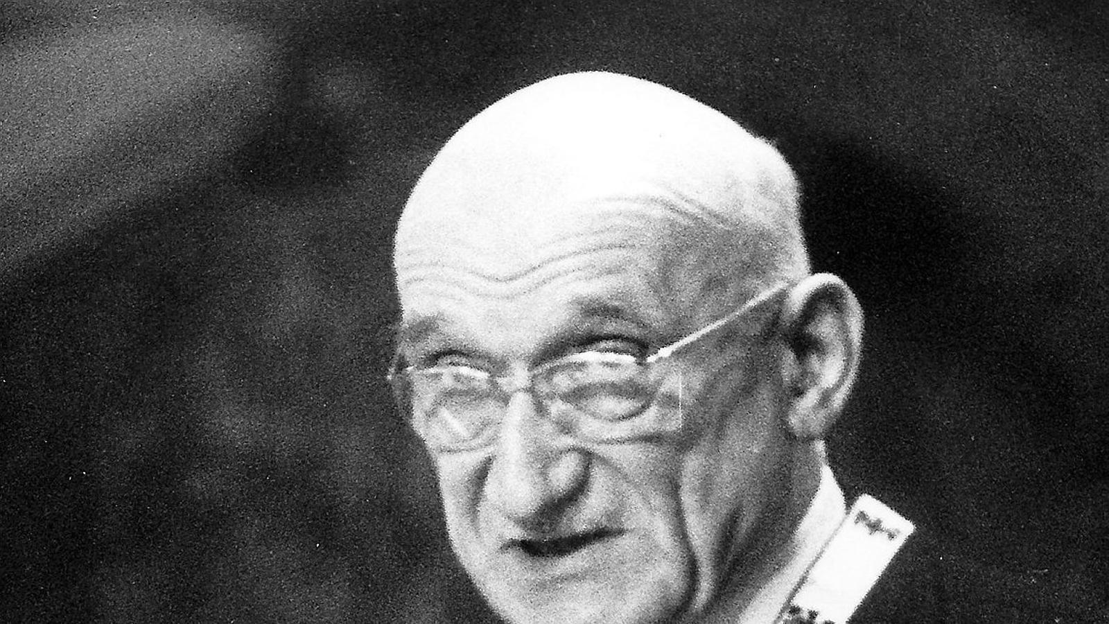 Robert Schuman, un dels anomenats pares d'Europa, en una imatge del 1958.