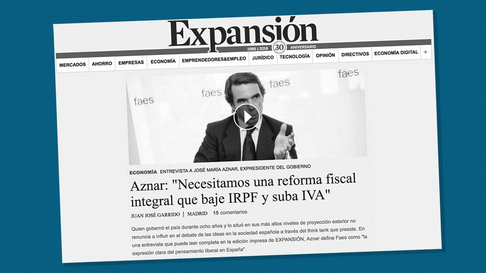 """L'anàlisi d'Antoni Bassas: 'Aznar: """"Pot ser que algú no sàpiga què firma quan firma una hipoteca""""'"""